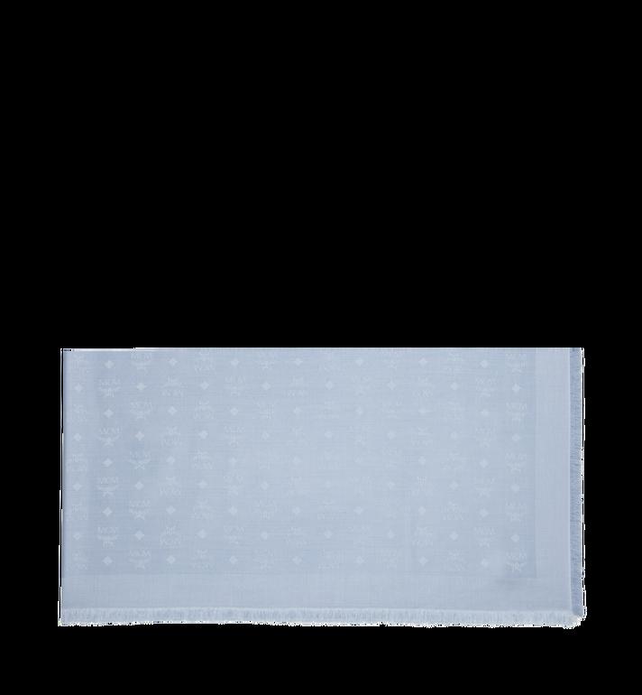 MCM Jacquard-Schal aus Seide und Wolle mit Monogramm Grey MEF9SMM01FB001 Alternate View 2