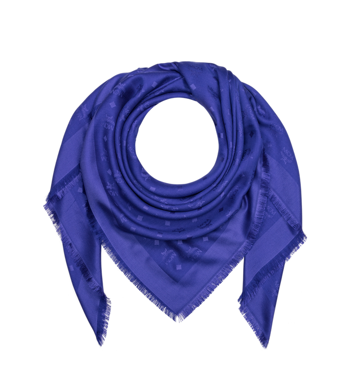 MCM Jacquard-Schal aus Seide und Wolle mit Monogramm MEF9SMM01HG001 AlternateView