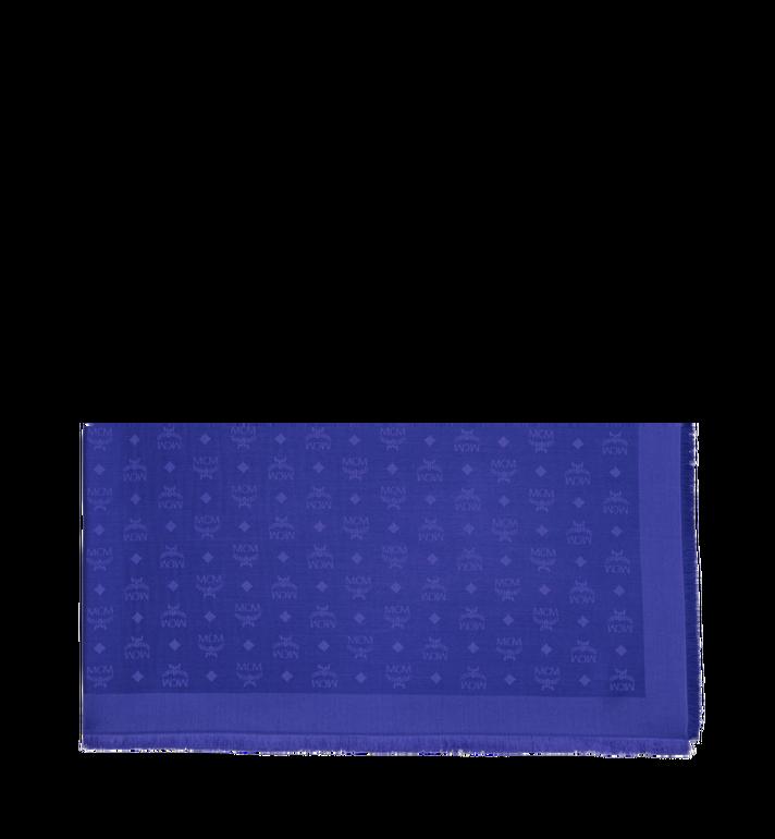 MCM Jacquard-Schal aus Seide und Wolle mit Monogramm MEF9SMM01HG001 AlternateView2