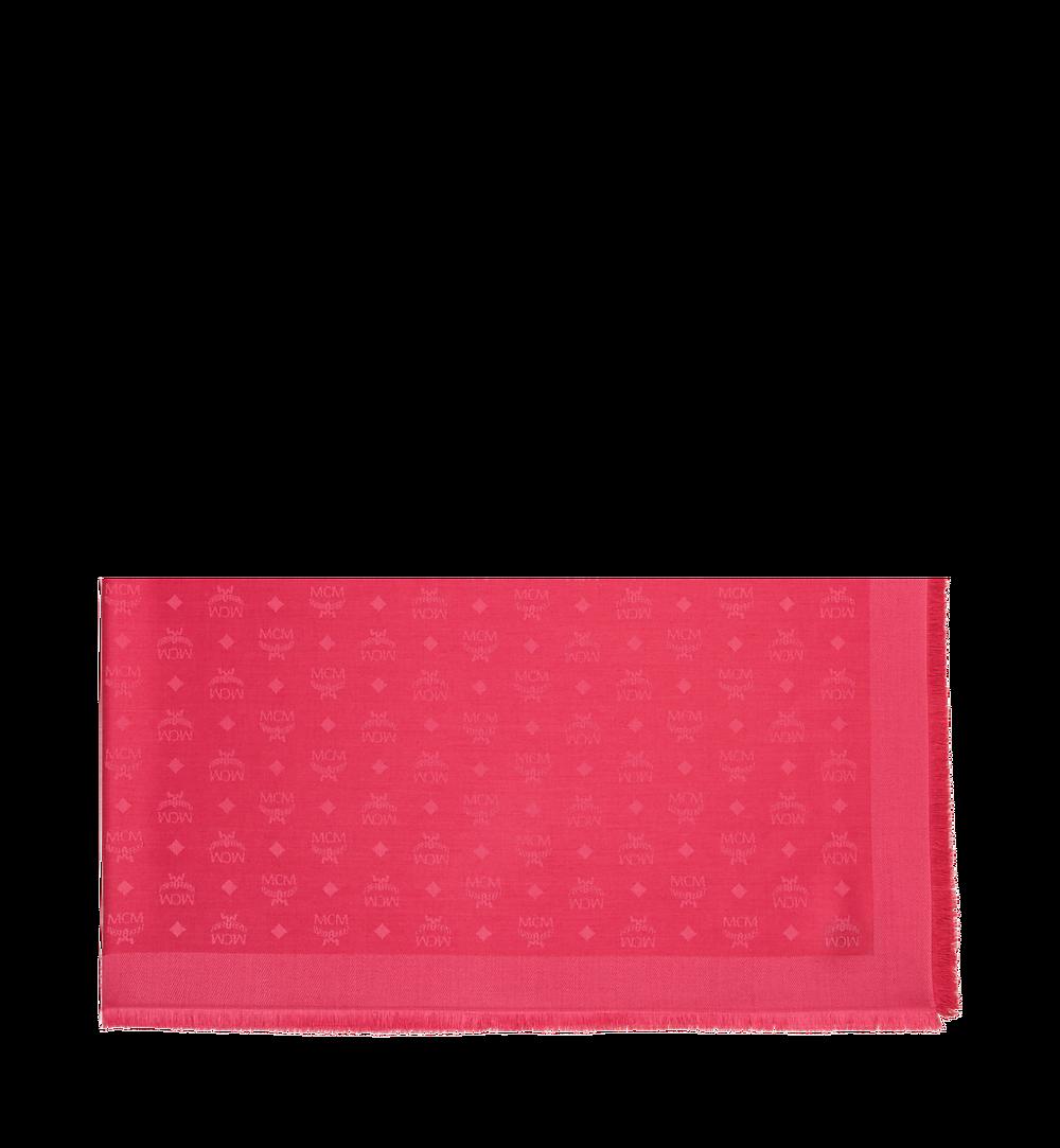 MCM Monogram Silk and Wool Jacquard Scarf Pink MEF9SMM01MA001 Alternate View 1