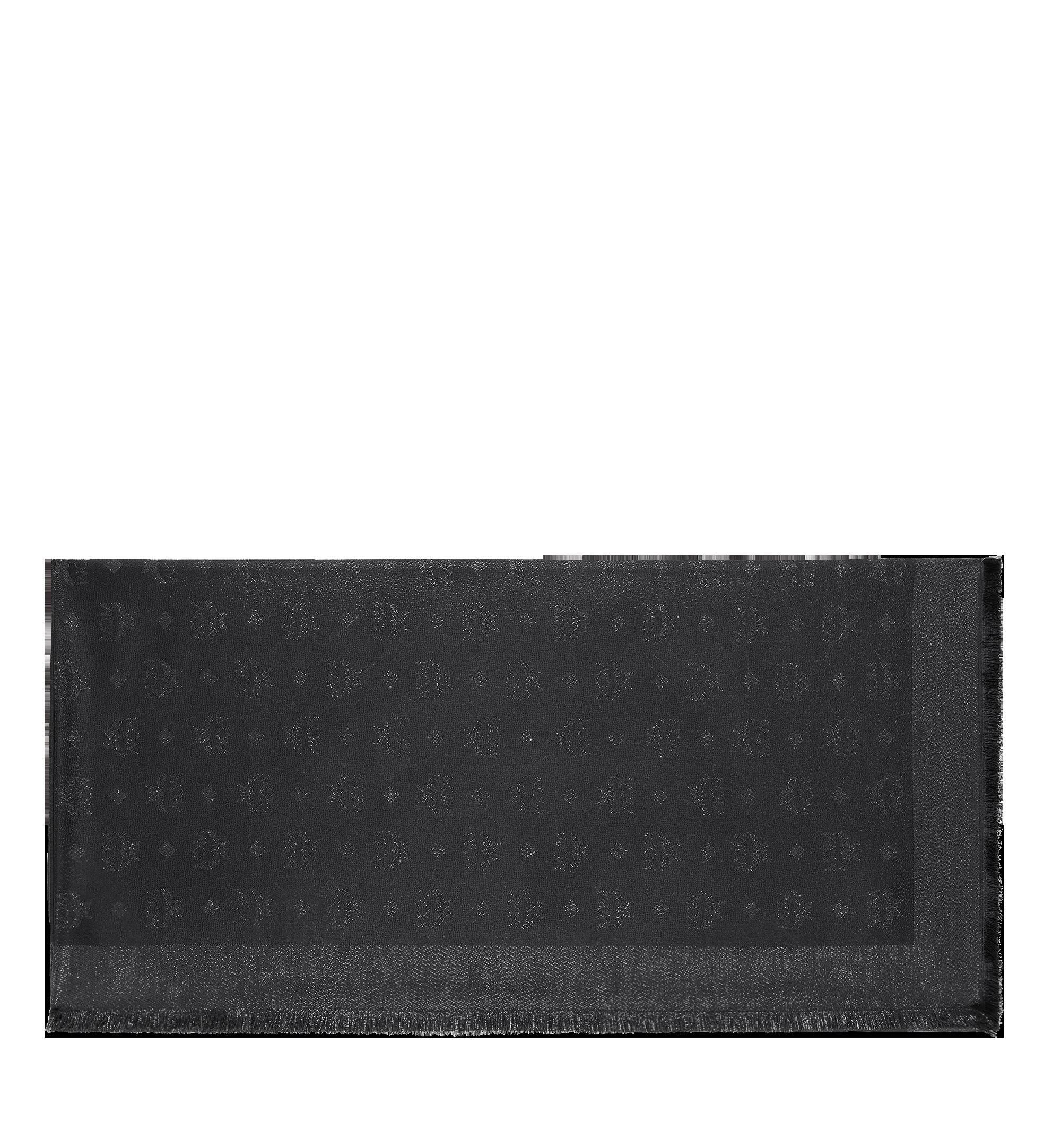MCM 經典盧勒克絲金銀紗圍巾 Black MEF9SMM02BI001 更多視圖 1