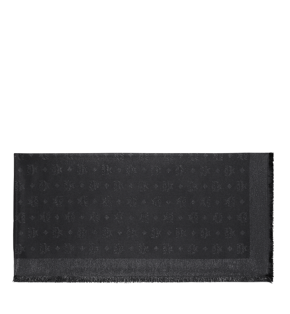 MCM Monogram Lurex Scarf Black MEF9SMM02BI001 Alternate View 1