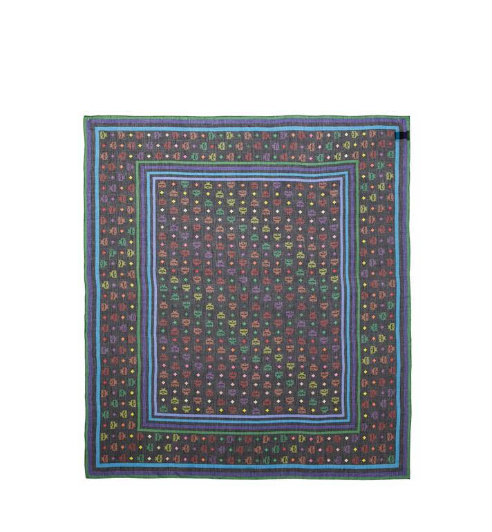 MCM Monogram Silk and Modal Scarf AlternateView2