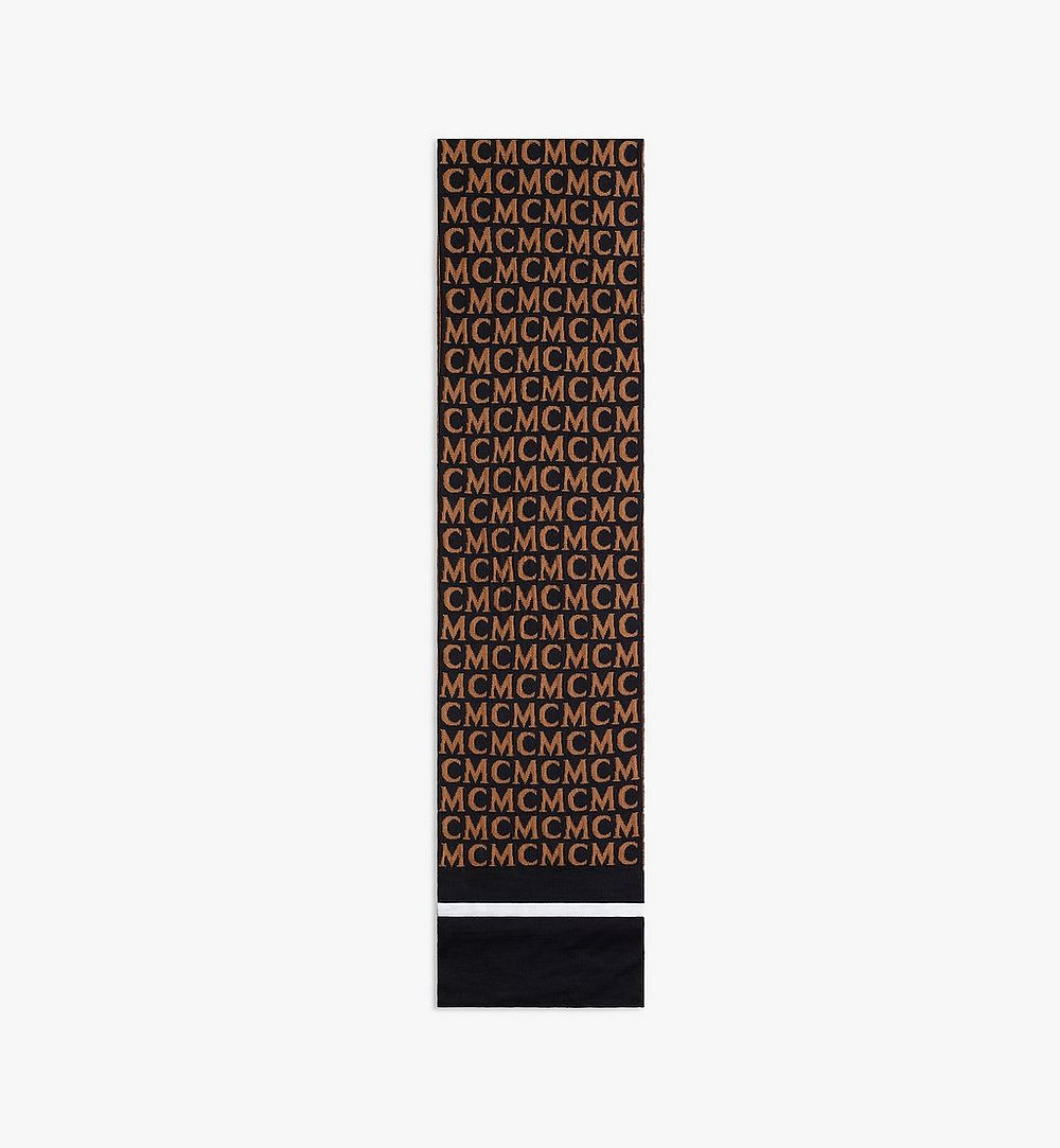 MCM MCM Monogram Wool Stole Brown MEFAAMD03C4001 Alternate View 1