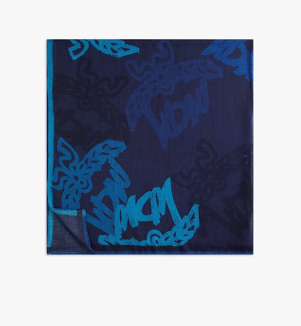 MCM Abstract Monogram Wool Scarf Black MEFAAMM02VU001 Alternate View 1