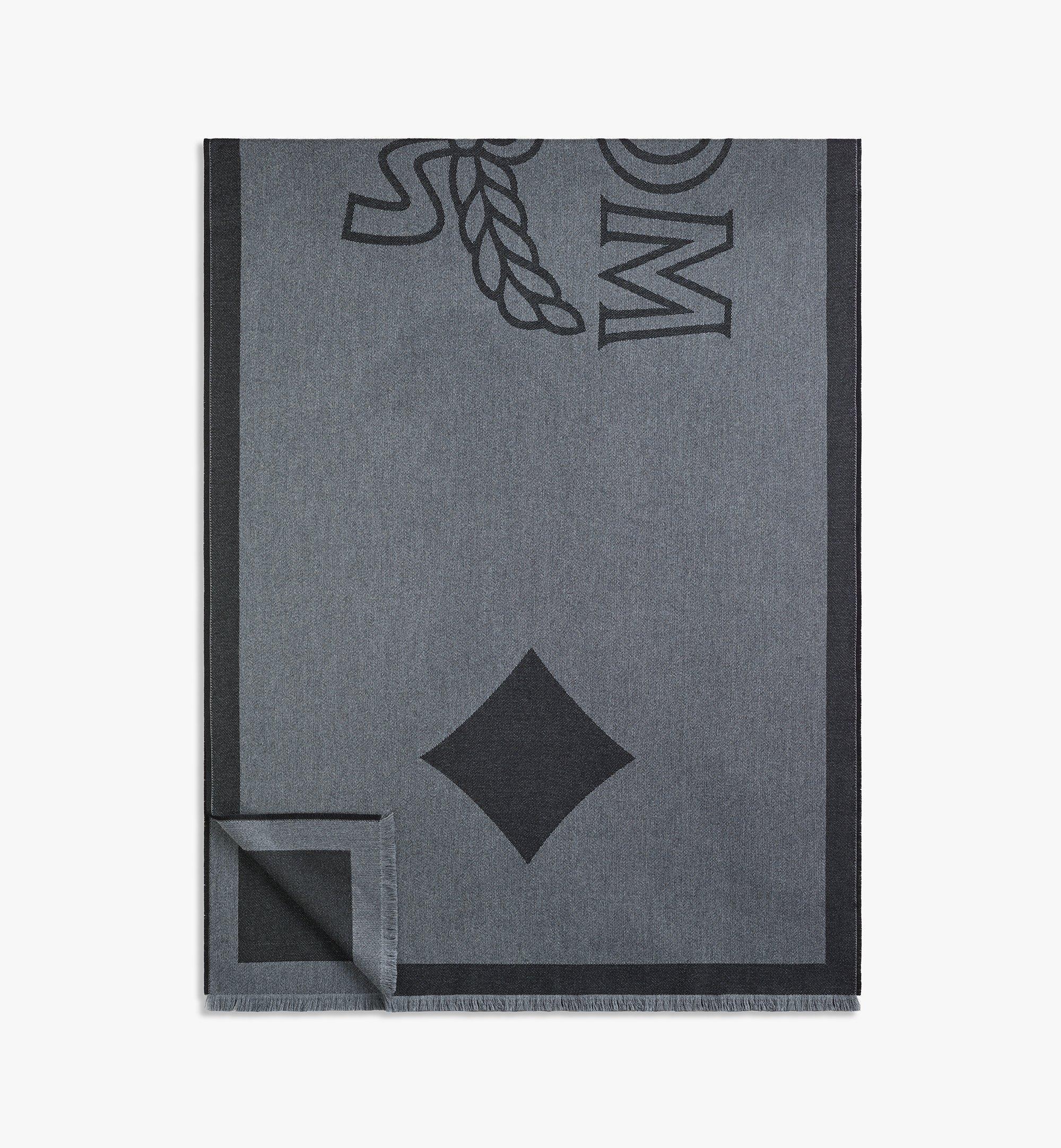 MCM 經典 Logo 羊毛披肩 Black MEFAAMM03BK001 更多視圖 1