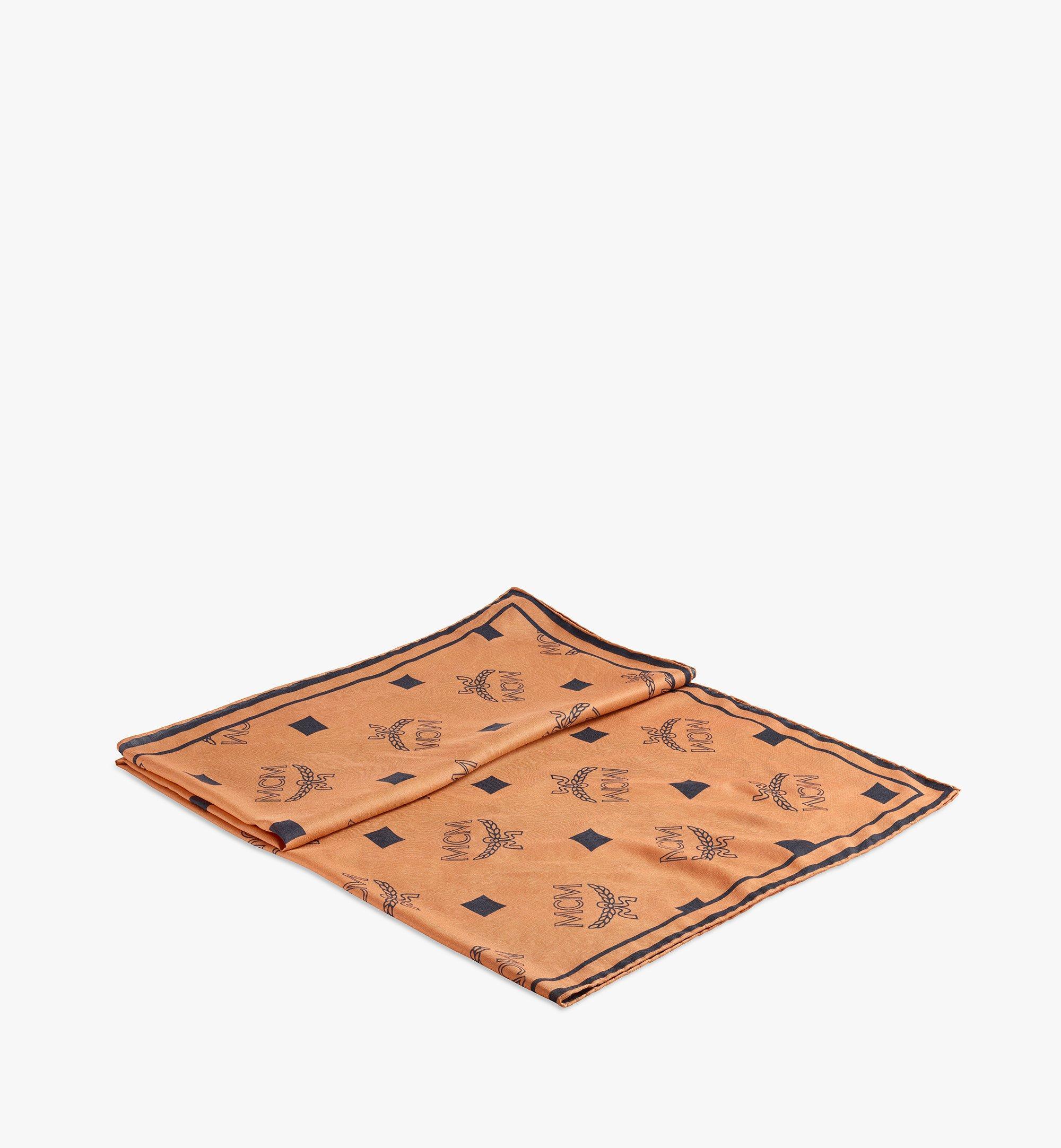 MCM 花押字圖案印花頭圍巾 Cognac MEFAAMM08CO001 更多視圖 1
