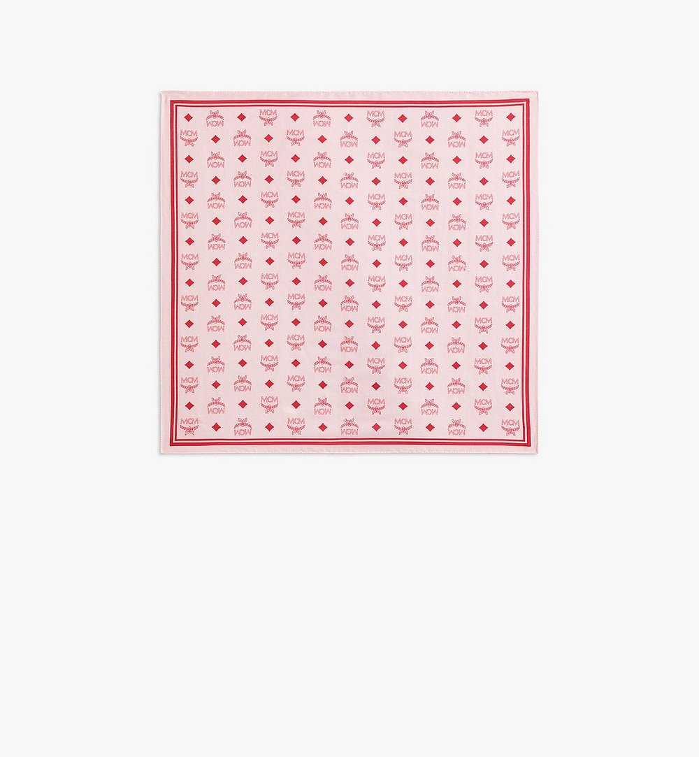 MCM Monogram Print Bandana Pink MEFAAMM10QK001 Alternate View 1