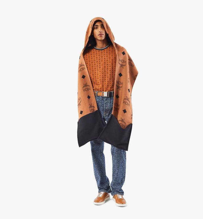 MCM Hooded Monogram Poncho Cognac MEFAAMM14CO001 Alternate View 4