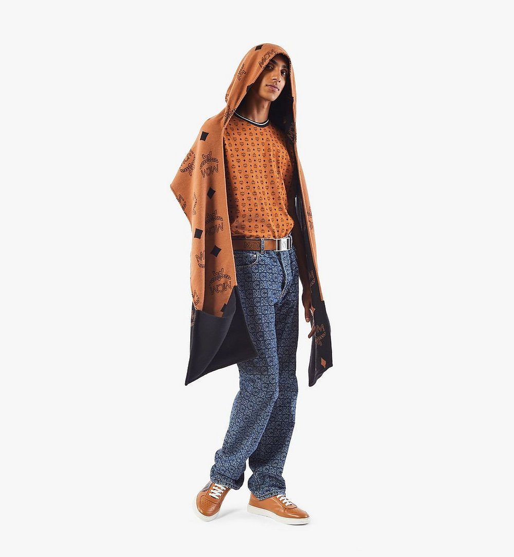 MCM Hooded Monogram Poncho Cognac MEFAAMM14CO001 Alternate View 3