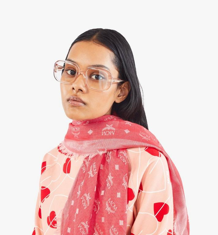 MCM Jacquard Monogram Scarf Red MEFAAMM16RP001 Alternate View 4