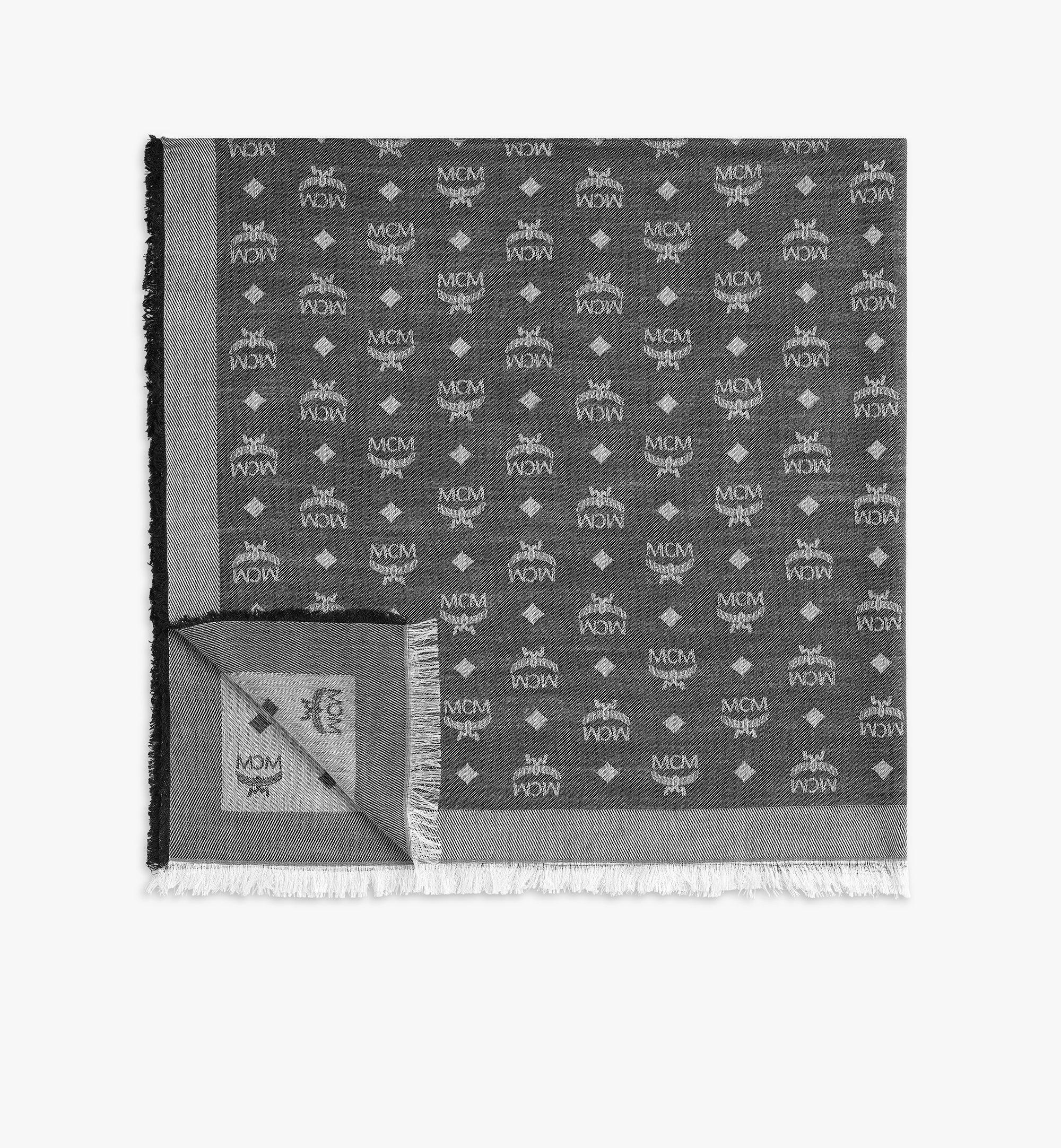 MCM 提花花押字圖案圍巾 Grey MEFAAMM16SS001 更多視圖 1