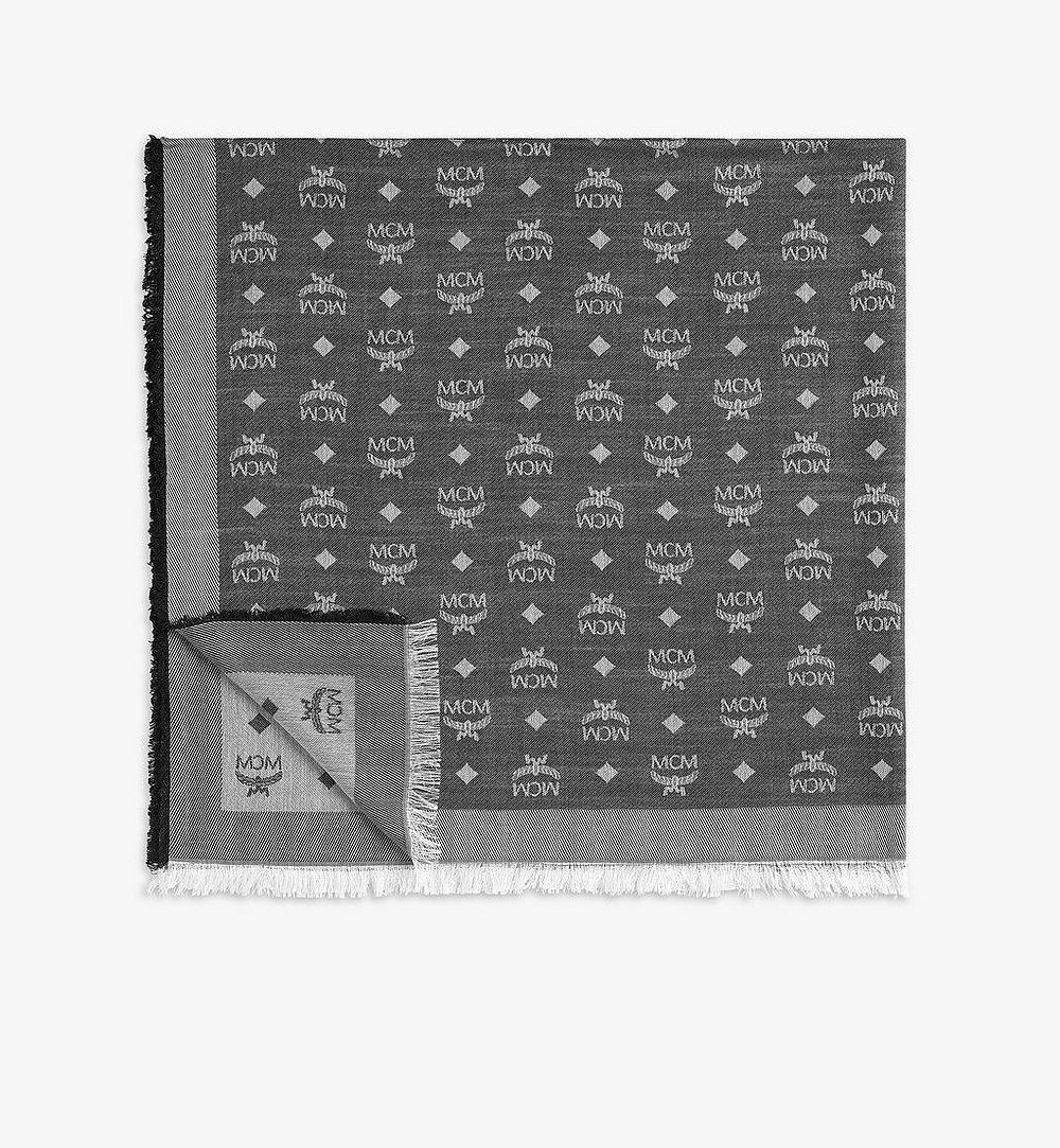MCM Jacquard Monogram Scarf Grey MEFAAMM16SS001 Alternate View 1