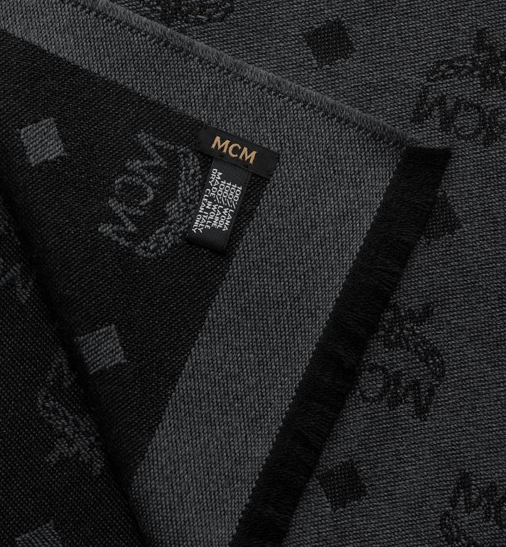MCM Logo Print Wool Stole  MEFASMM07BK001 Alternate View 2