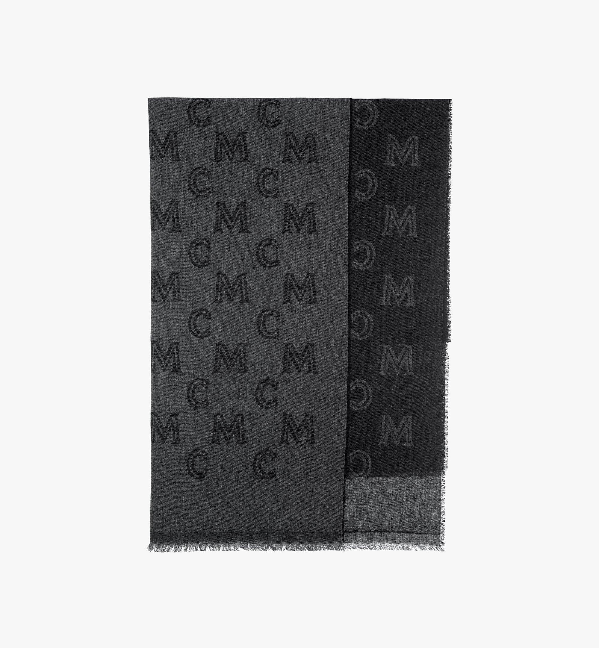 MCM Monogram Jacquard Stole Grey MEFASMM10FI001 Alternate View 1