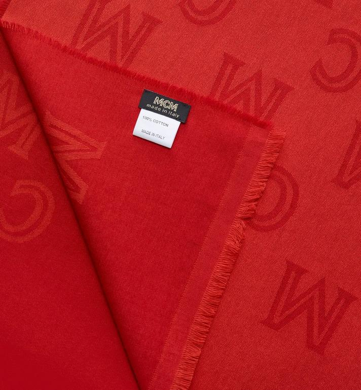MCM Monogram Jacquard Stole Red MEFASMM10R4001 Alternate View 2