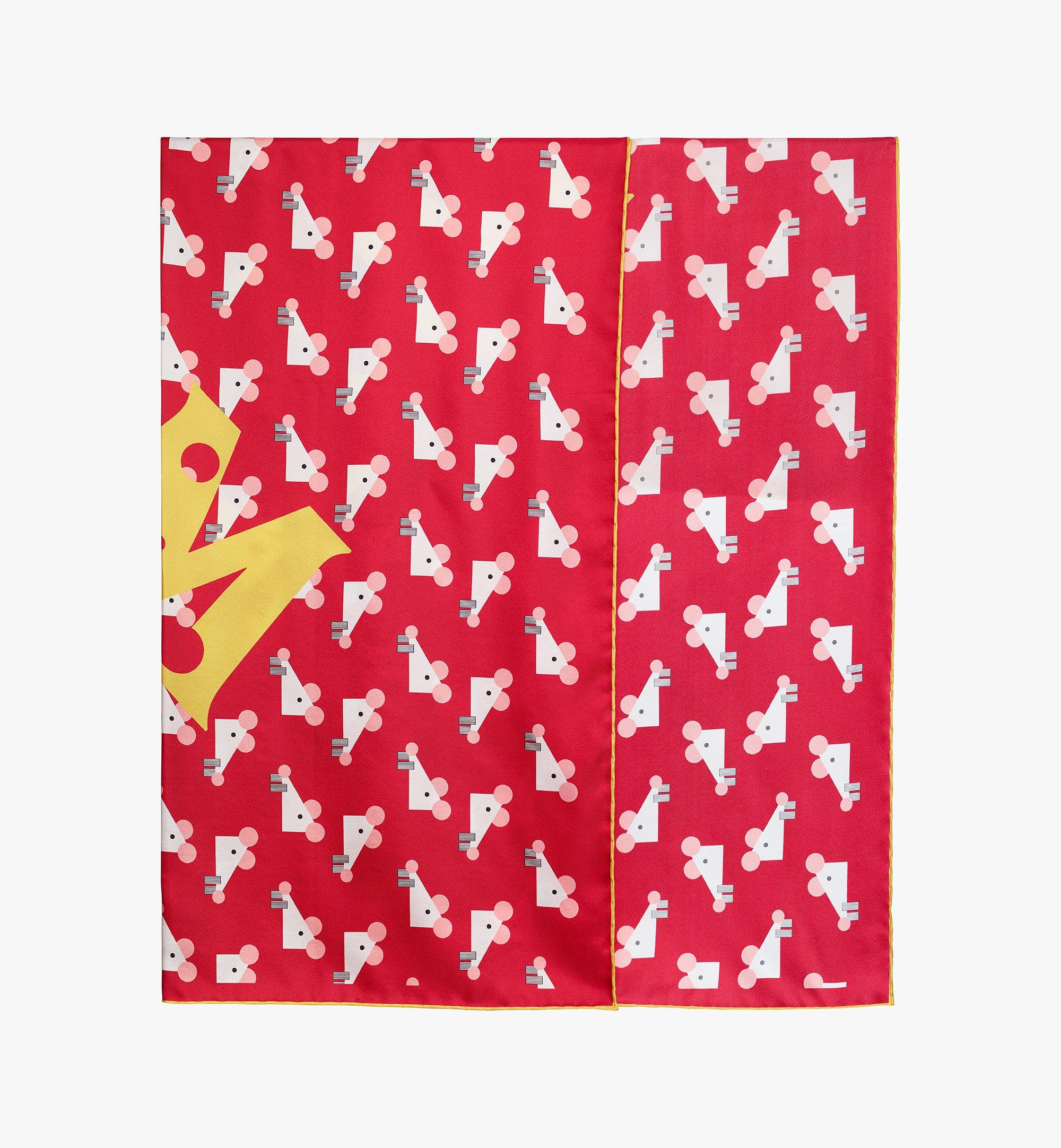 MCM Year Of The Mouse Bandana Scarf Red MEFASSE01R4001 Alternate View 1