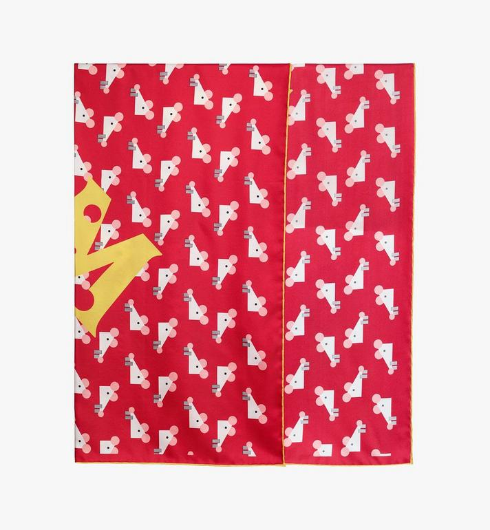 MCM Year Of The Mouse Bandana Scarf Red MEFASSE01R4001 Alternate View 2
