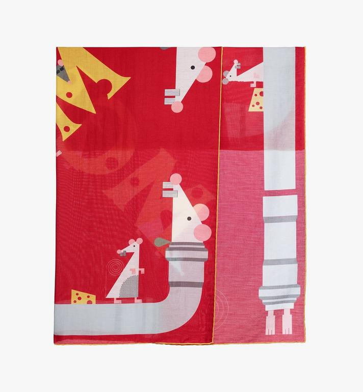 MCM Year Of The Mouse Bandana Red MEFASSE02R4001 Alternate View 2