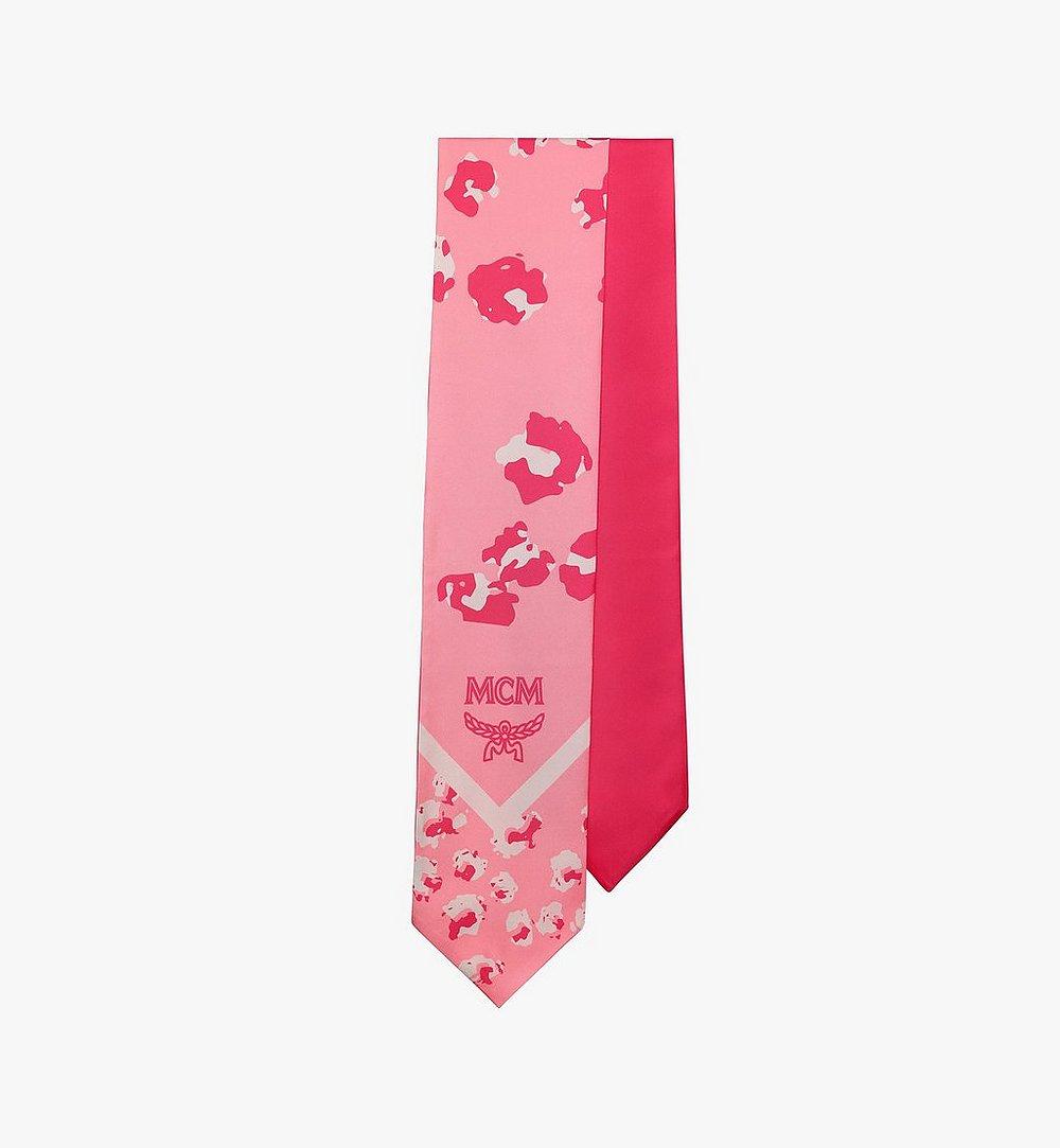 MCM Floral Leopard Silk Stole Pink MEFASSE05QG001 Alternate View 1