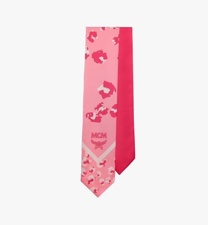 MCM Floral Leopard Silk Twilly Scarf Pink MEFASSE05QG001 Alternate View 2
