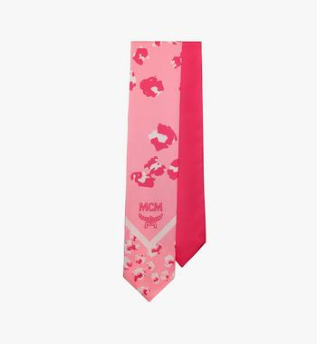 MCM Floral Leopard Silk Twilly Scarf Pink MEFASSE05QG001 Alternate View 2