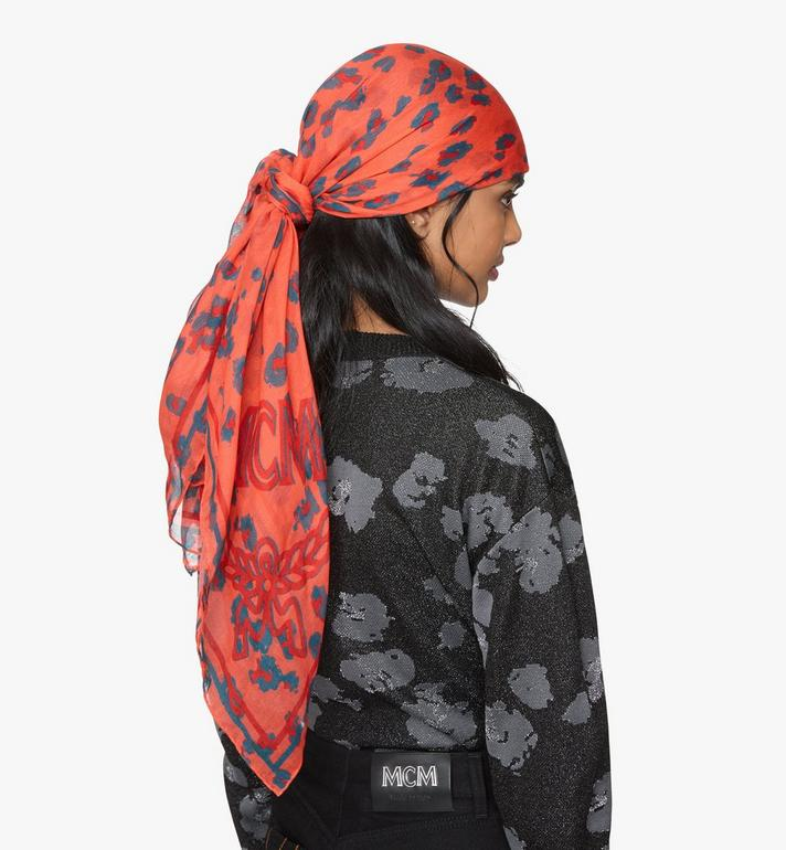 MCM Floral Leopard Shawl Red MEFASSE06O3001 Alternate View 3