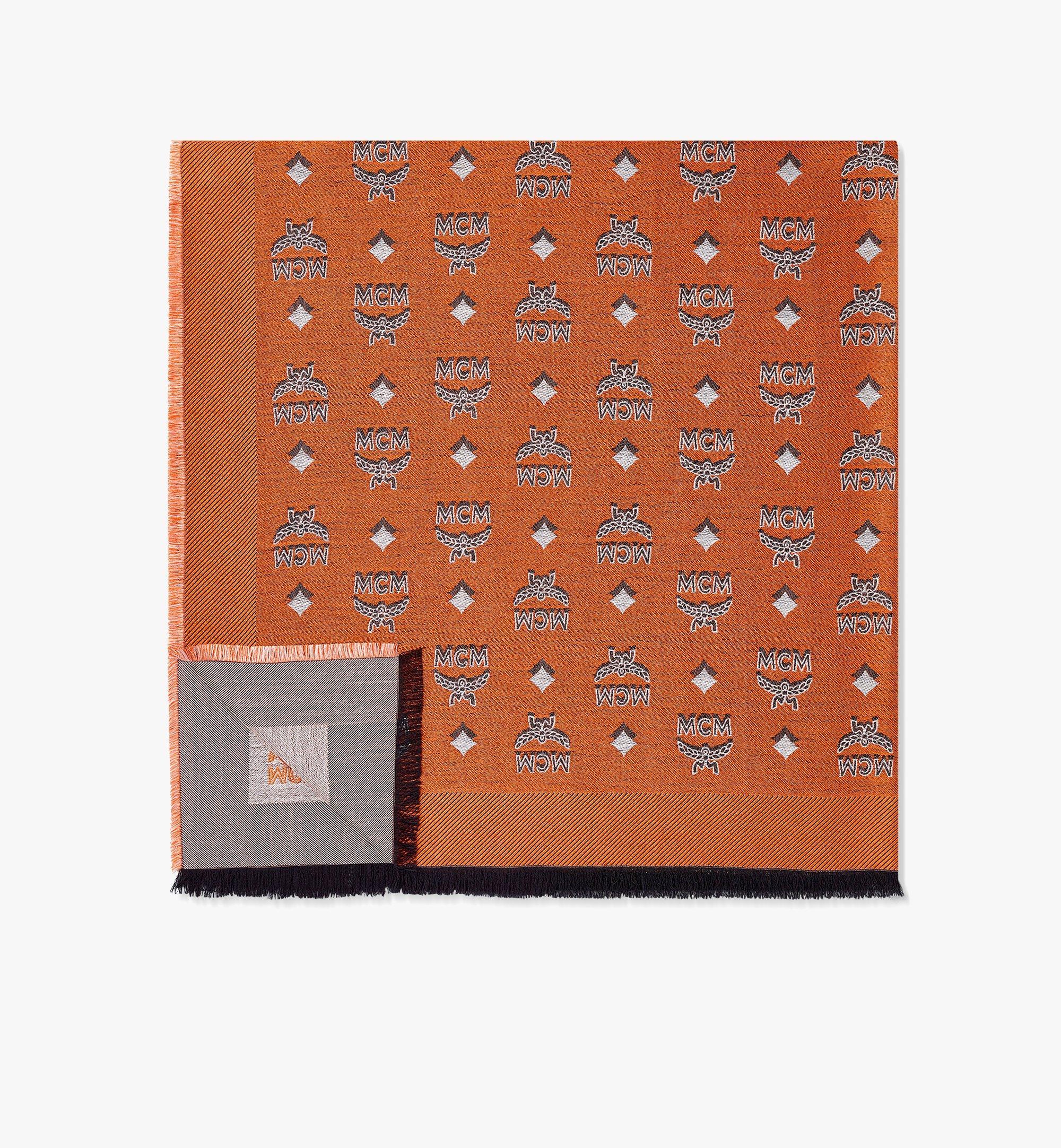 MCM 双色提花经典花纹围巾 Orange MEFBAMM01O9001 更多视角 1