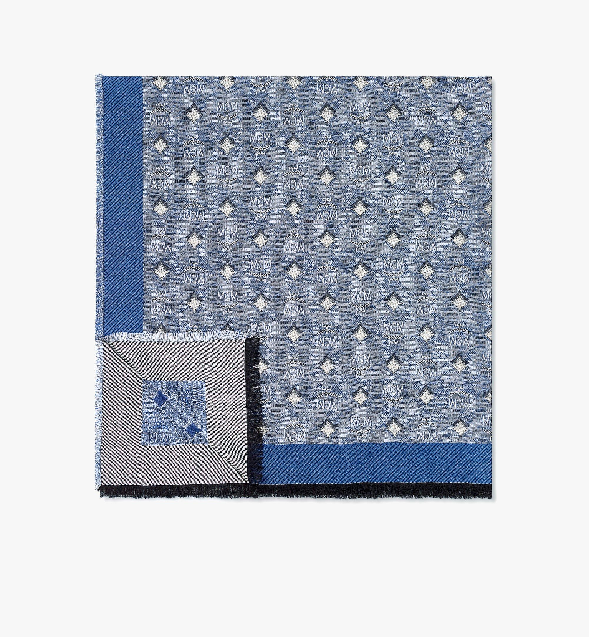 MCM Schal aus Vintage-Jacquard mit Monogramm Blue MEFBATQ02LU001 Noch mehr sehen 1