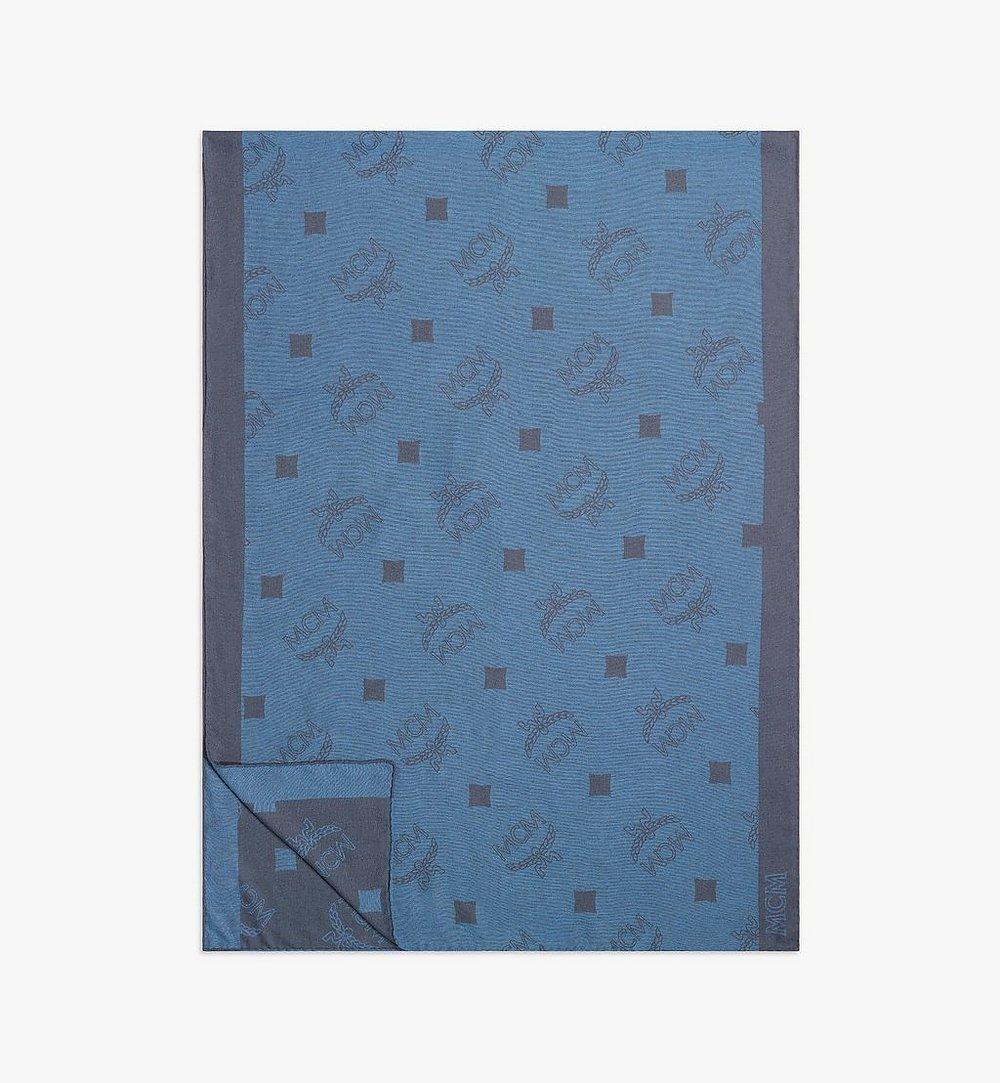 MCM 실크 모노그램 스톨 Blue MEFBSMM01H7001 다른 각도 보기 1