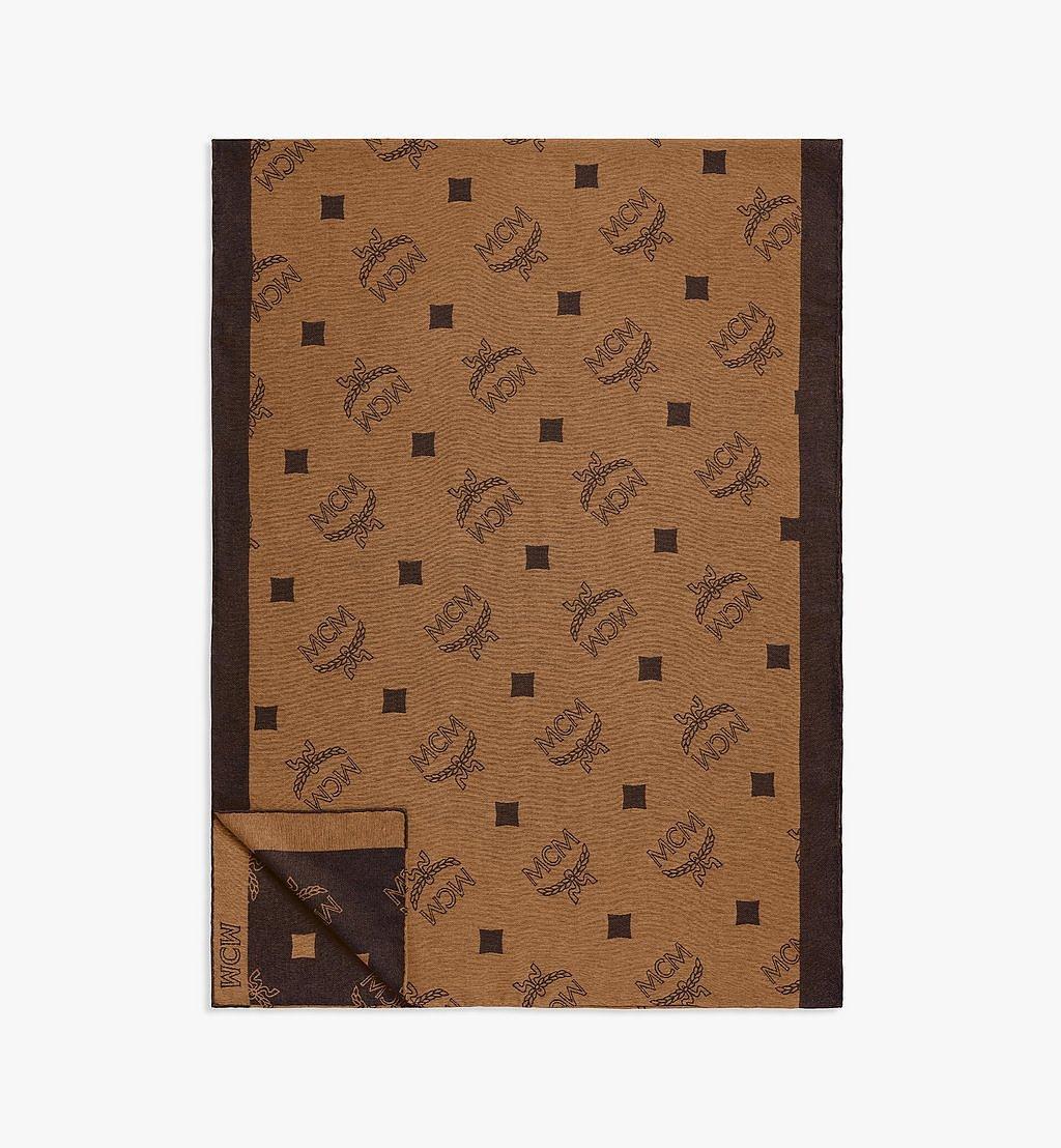 MCM Stola aus Seide mit Monogramm Brown MEFBSMM01N4001 Noch mehr sehen 1