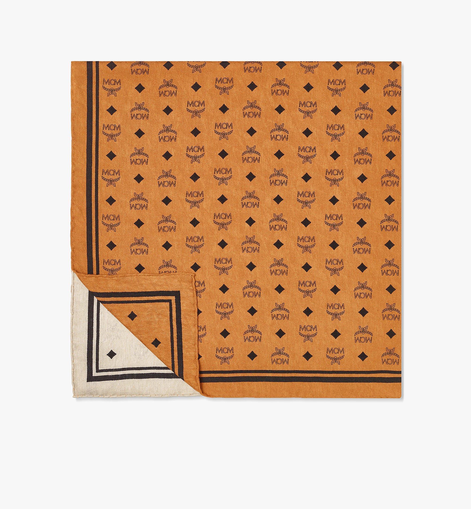 MCM Halstuch aus Seide mit Monogramm Brown MEFBSMM06N4001 Noch mehr sehen 1