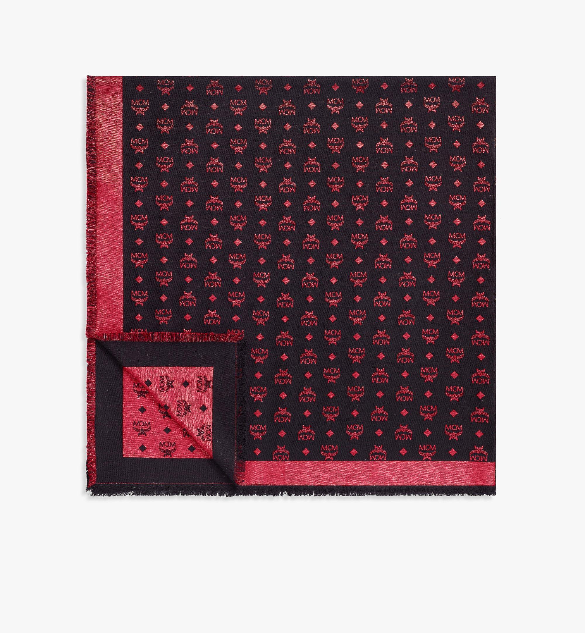 MCM Gradation Monogram Lurex Shawl Red MEFBSMM07R4001 Alternate View 1