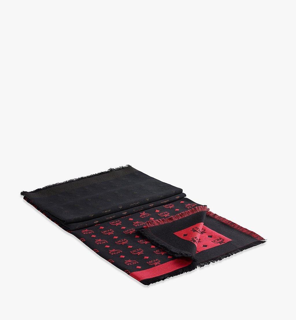 MCM Schal aus Lurex mit Farbverlauf-Monogramm Red MEFBSMM07R4001 Noch mehr sehen 1