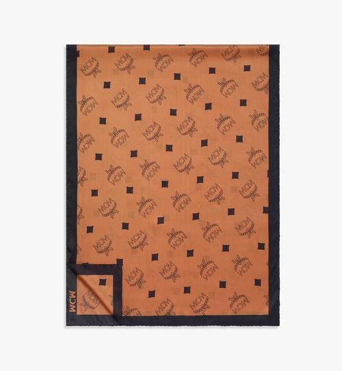 Châle rectangulaire en soie monogrammée