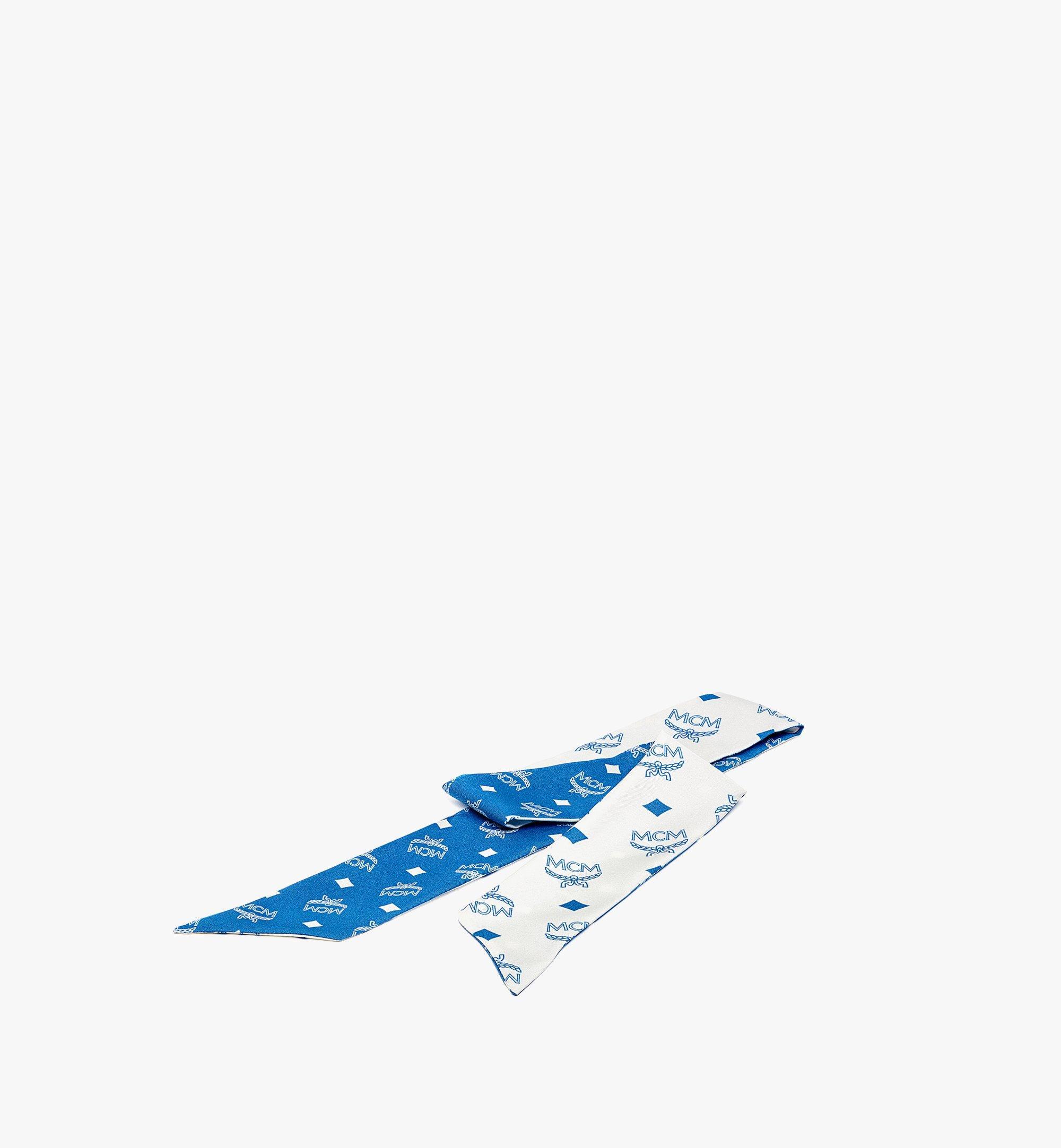 MCM 经典花纹丝巾 Blue MEFBSMM12H9001 更多视角 1