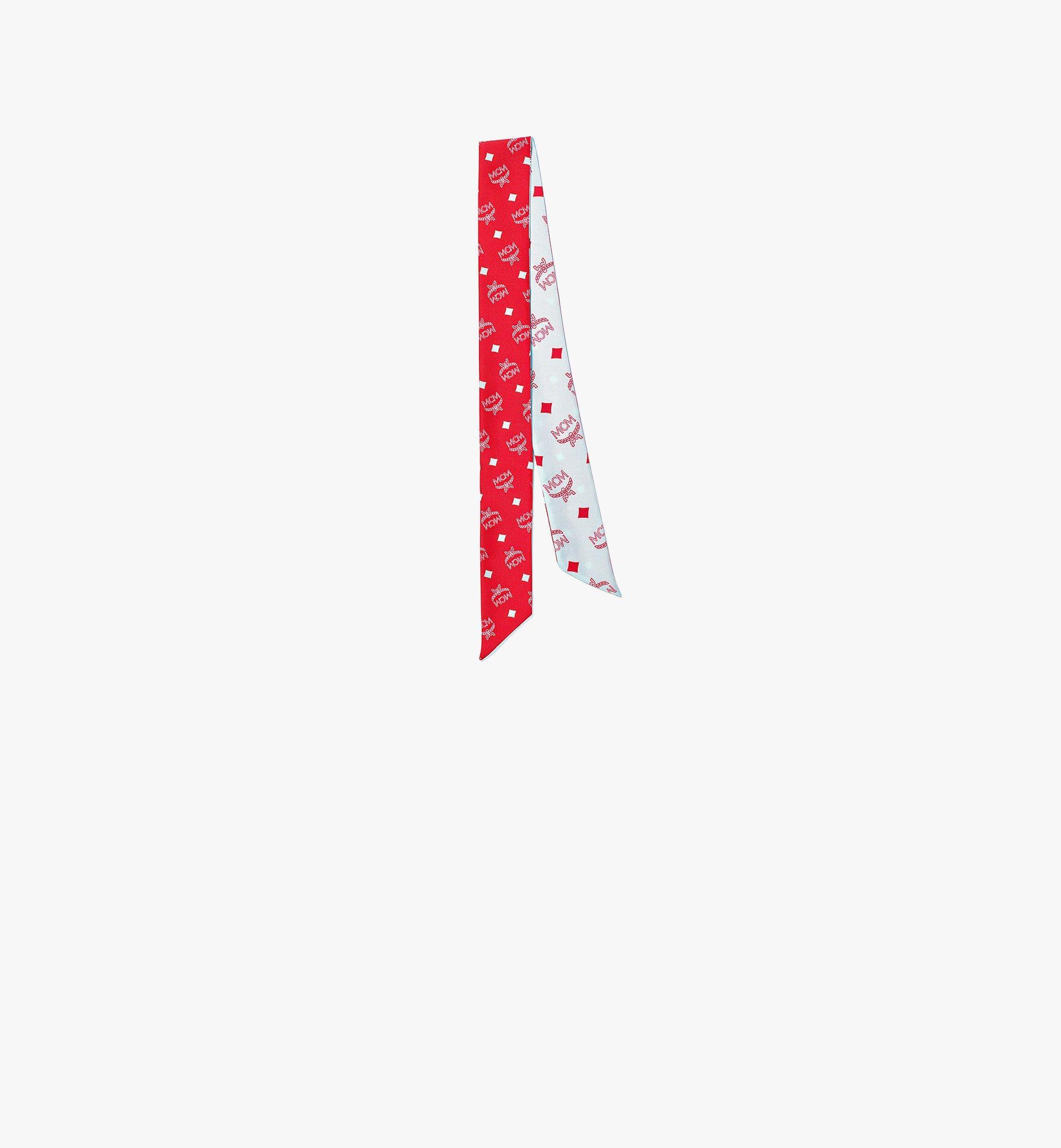 MCM Monogram Silk Petite Scarf Red MEFBSMM12R4001 Alternate View 1