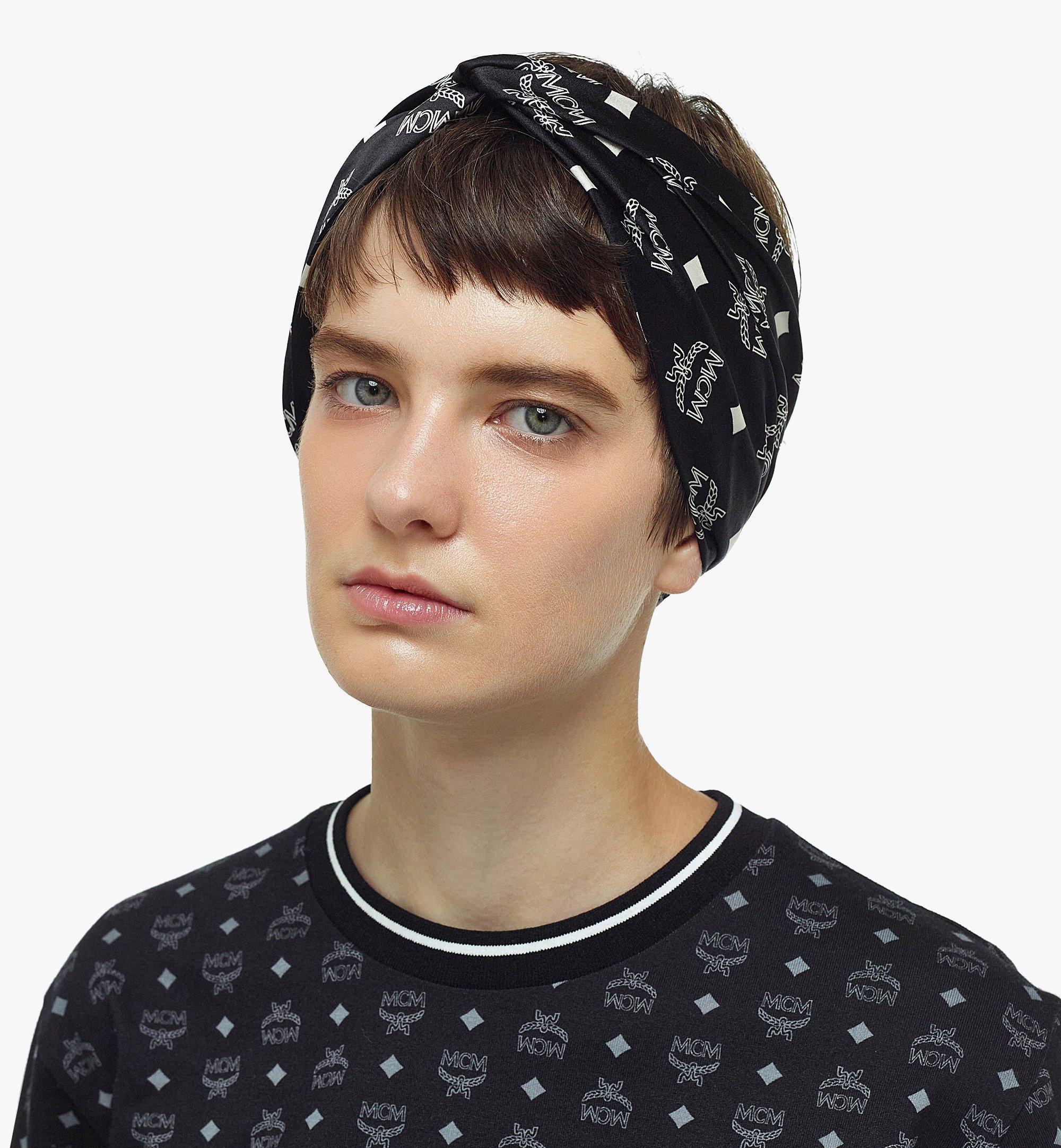 MCM Stirnband aus Seide mit Monogramm  MEFBSMM14BK001 Noch mehr sehen 3