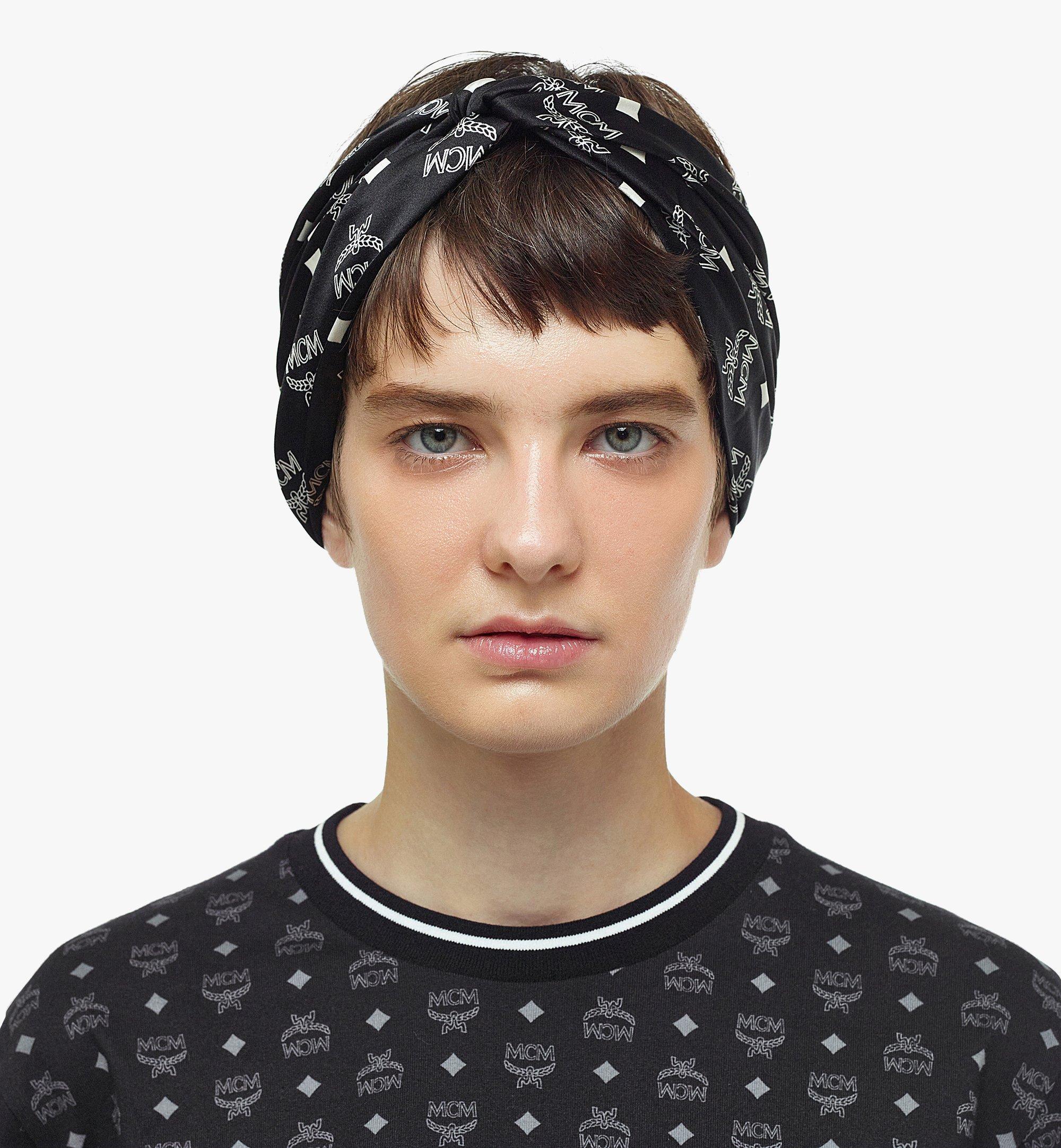 MCM Stirnband aus Seide mit Monogramm  MEFBSMM14BK001 Noch mehr sehen 2