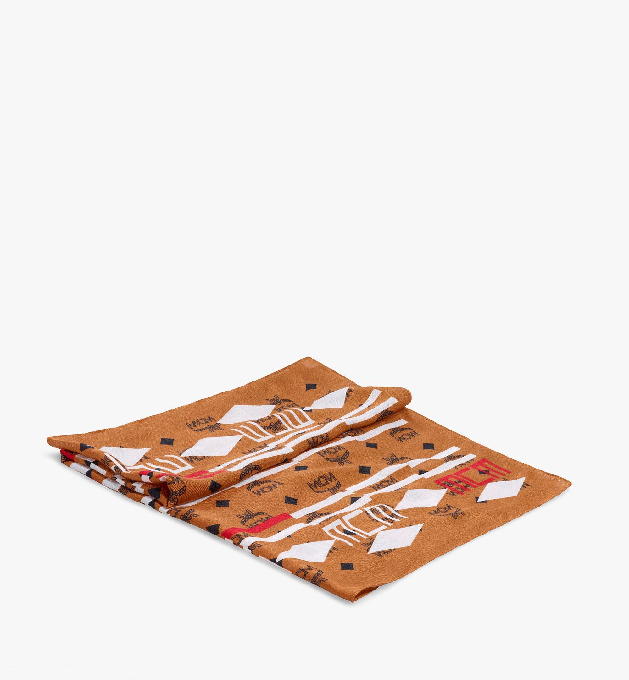 MCM Geo 塗鴉頭巾 Brown MEFBSSX03N4001 更多視圖 1