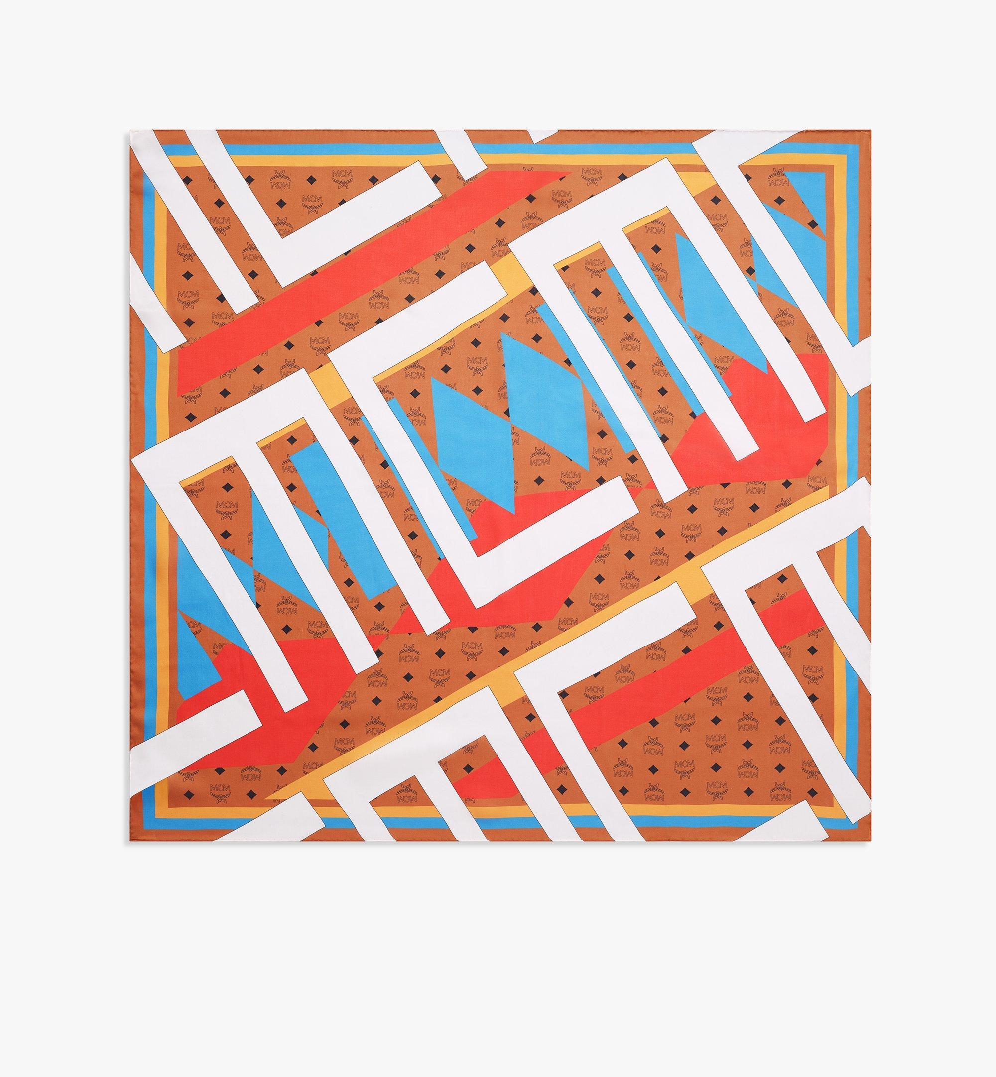 MCM Seidenschal GeoGraffiti mit Monogramm Brown MEFBSSX04N4001 Noch mehr sehen 1