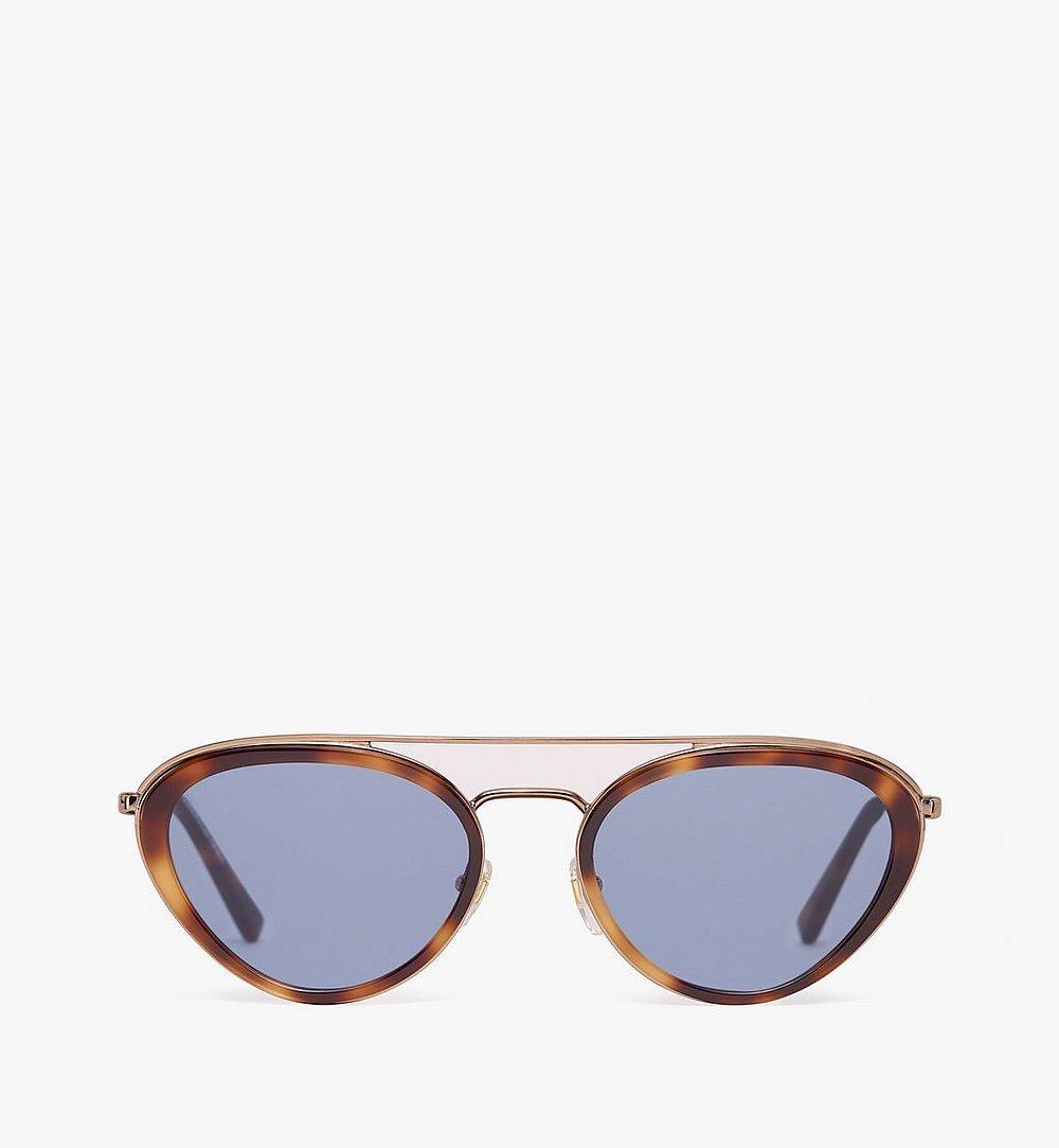 MCM Cat Eye Aviator Sunglasses Blue MEG9A2I02LU001 Alternate View 1