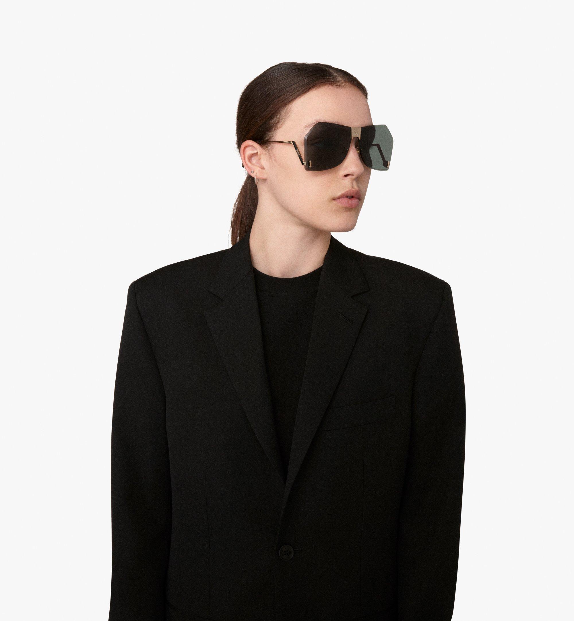 MCM Geometric Oversized Sunglasses Grey MEG9A2I03ED001 Alternate View 2