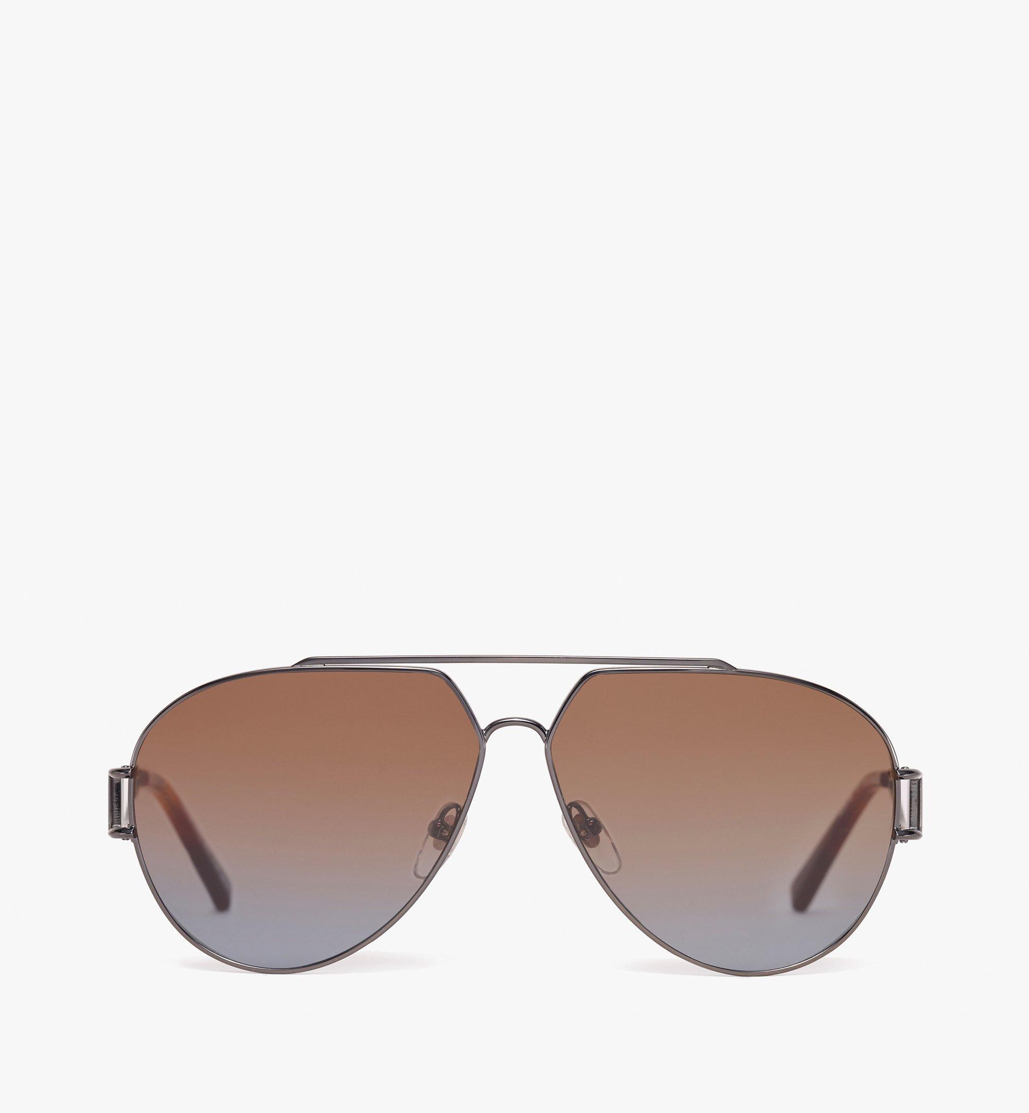 MCM Aviator Sunglasses Brown MEG9A2I04NR001 Alternate View 1