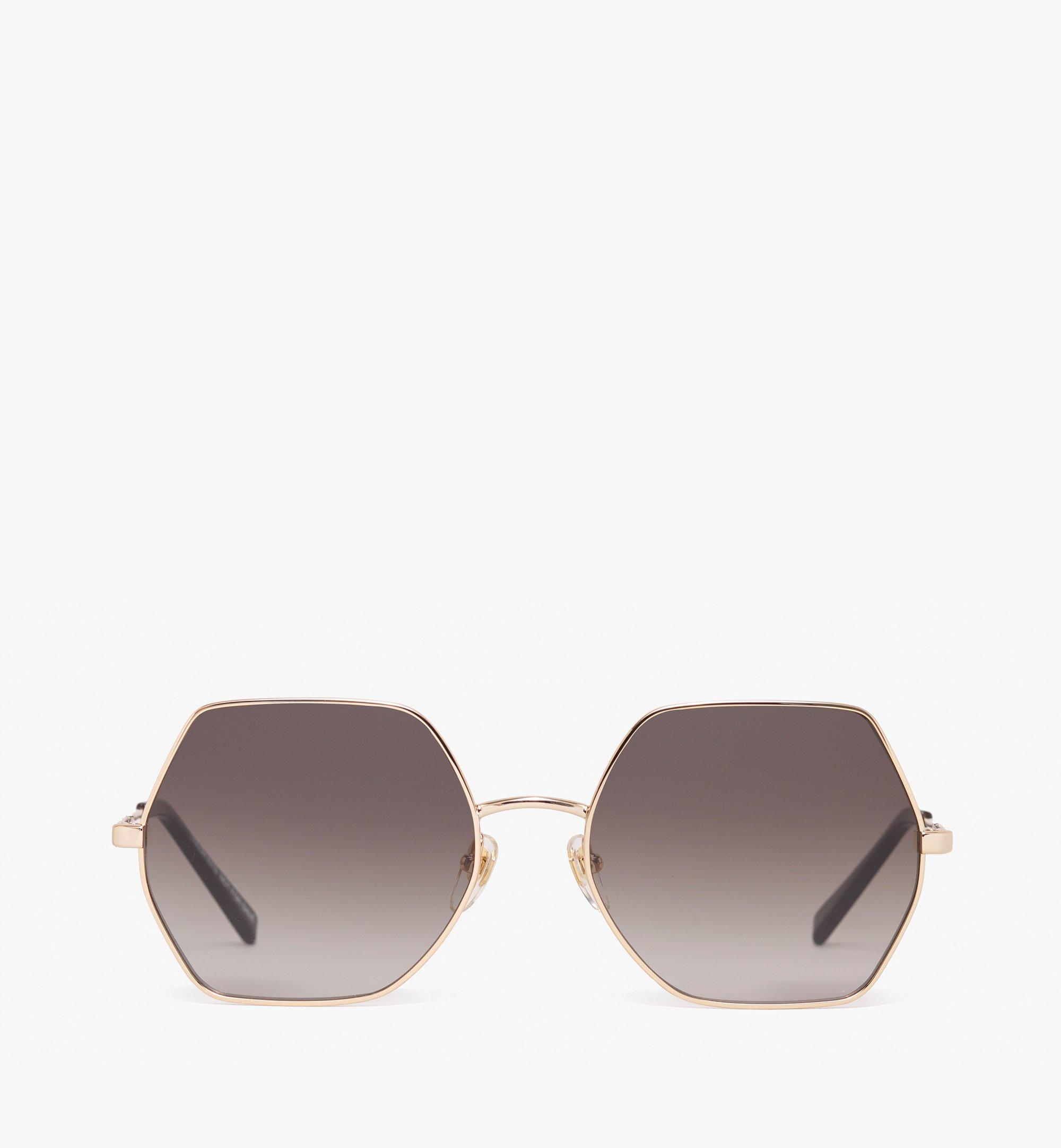 MCM Geometric Oversized Sunglasses Grey MEG9A2I06EG001 Alternate View 1