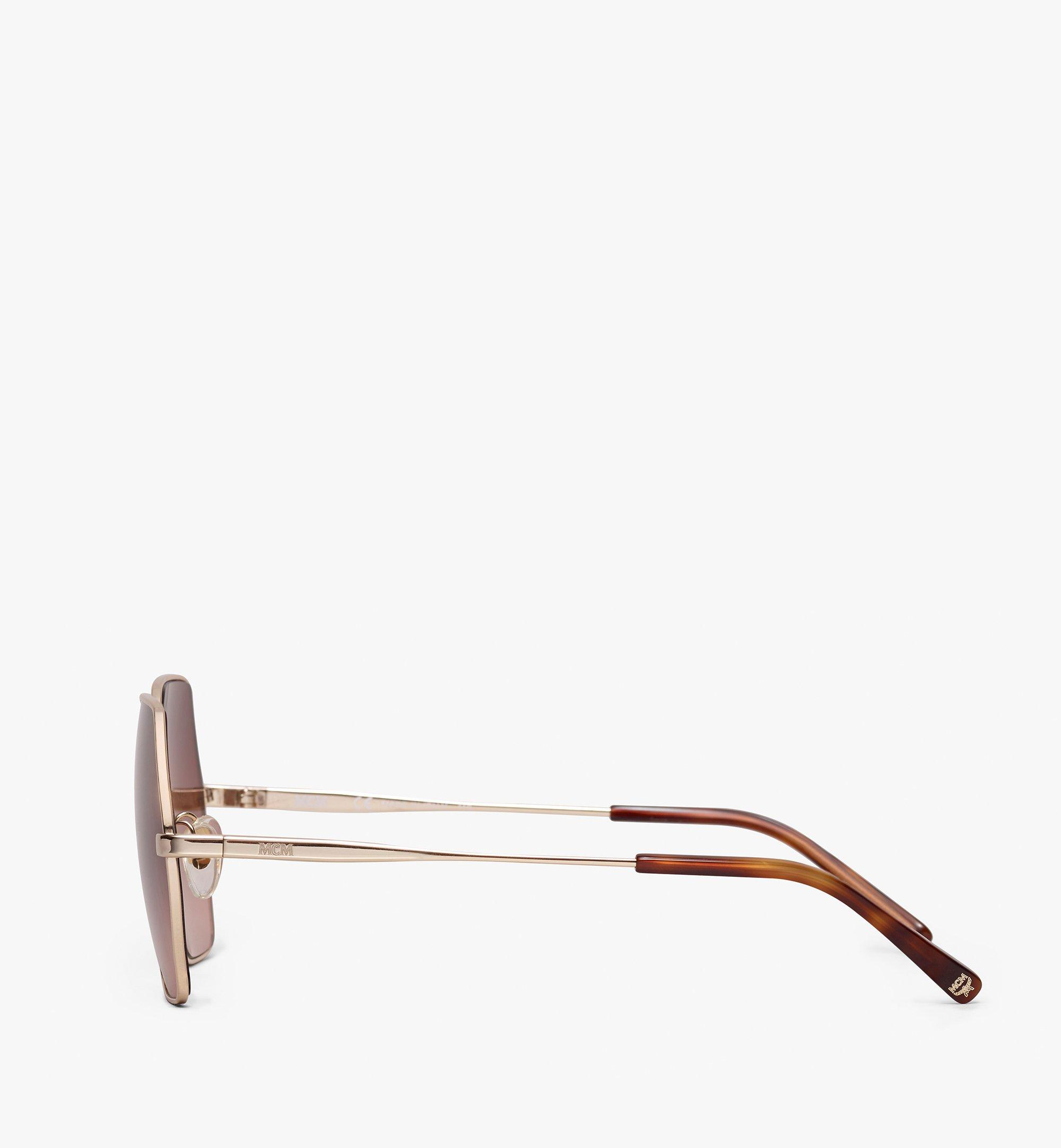 MCM Geometric Oversized Sunglasses Brown MEG9A2I06NR001 Alternate View 1