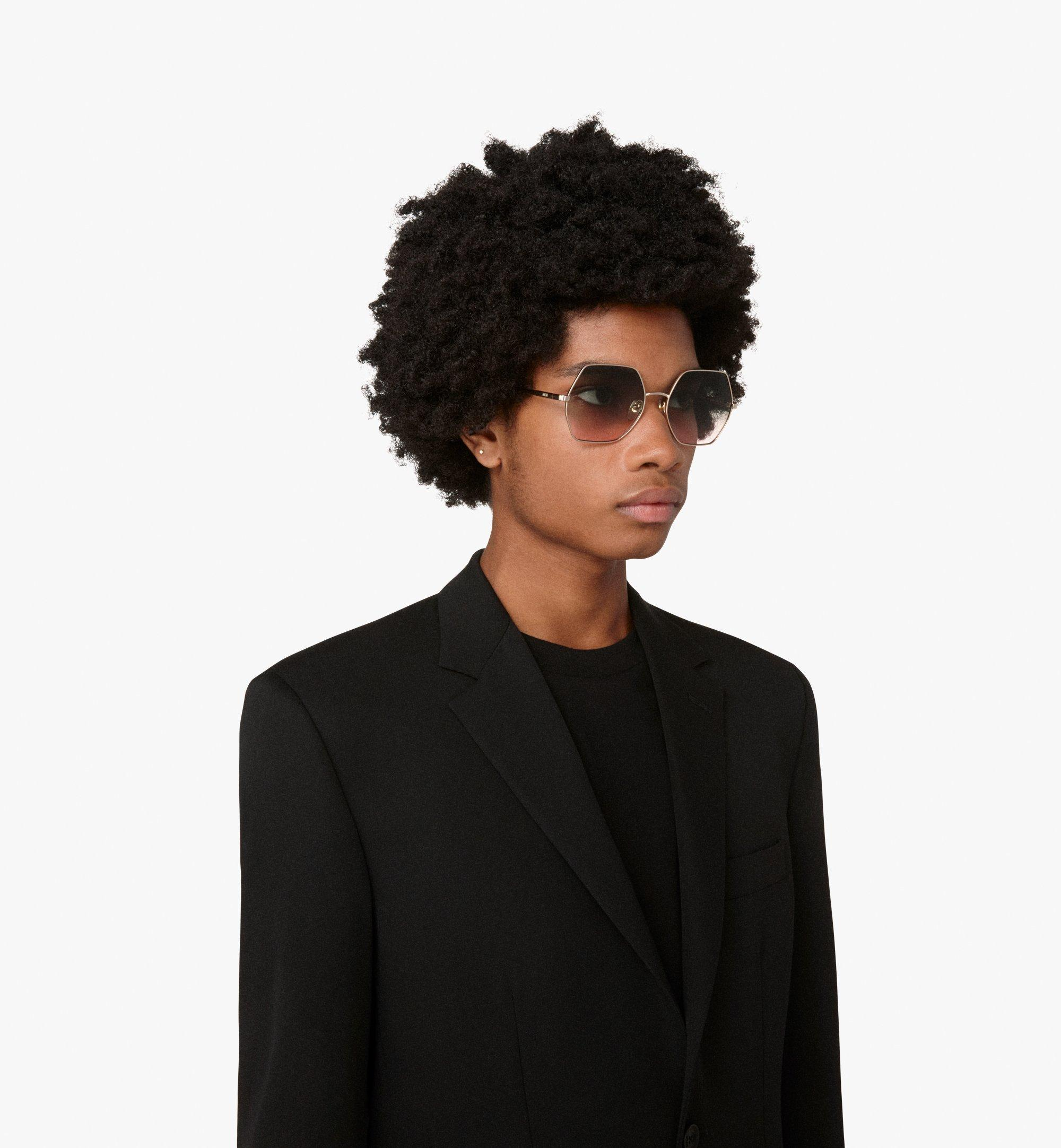 MCM Geometric Oversized Sunglasses Brown MEG9A2I06NR001 Alternate View 2