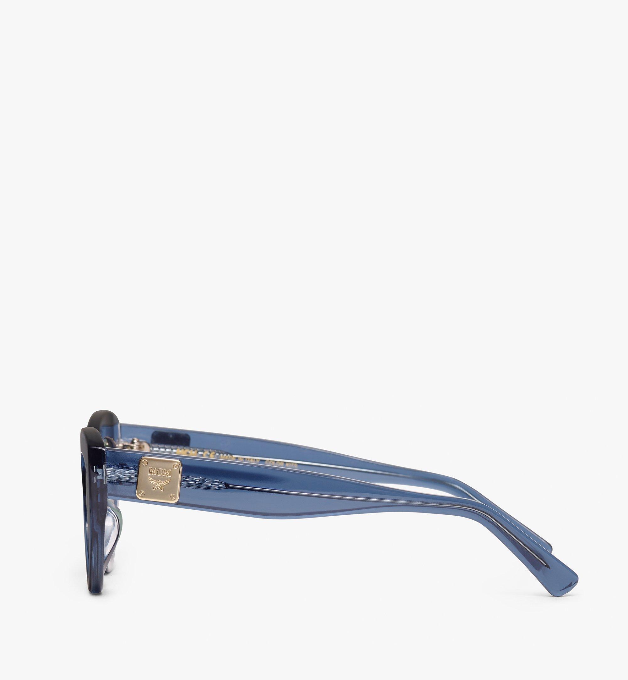 MCM Cat Eye Sunglasses Blue MEG9A2I08LU001 Alternate View 1