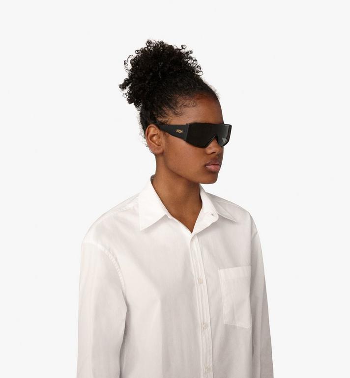 MCM Shield Sunglasses Black MEG9A2I11BK001 Alternate View 4