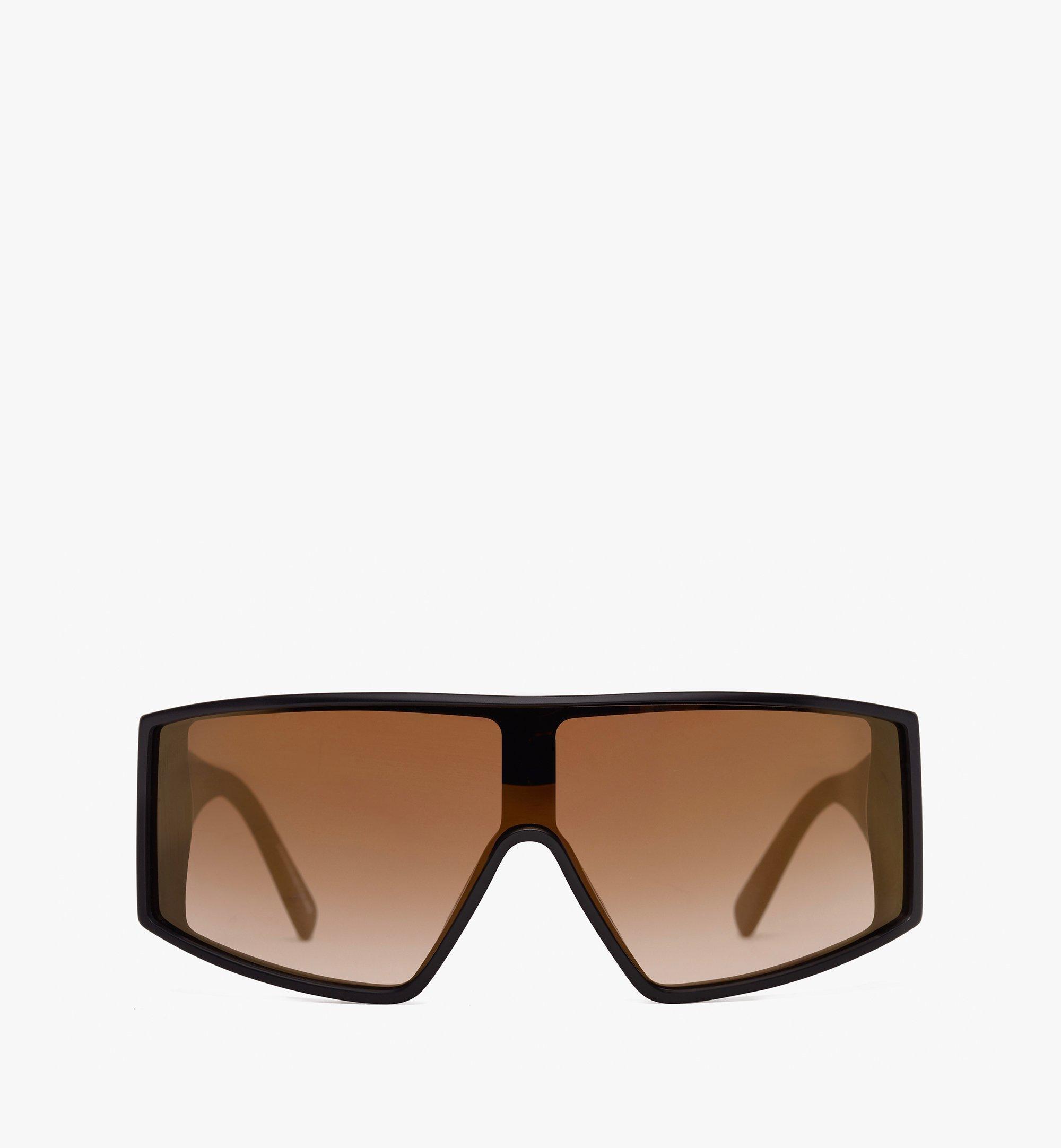 MCM Shield Sunglasses Gold MEG9A2I11DG001 Alternate View 1